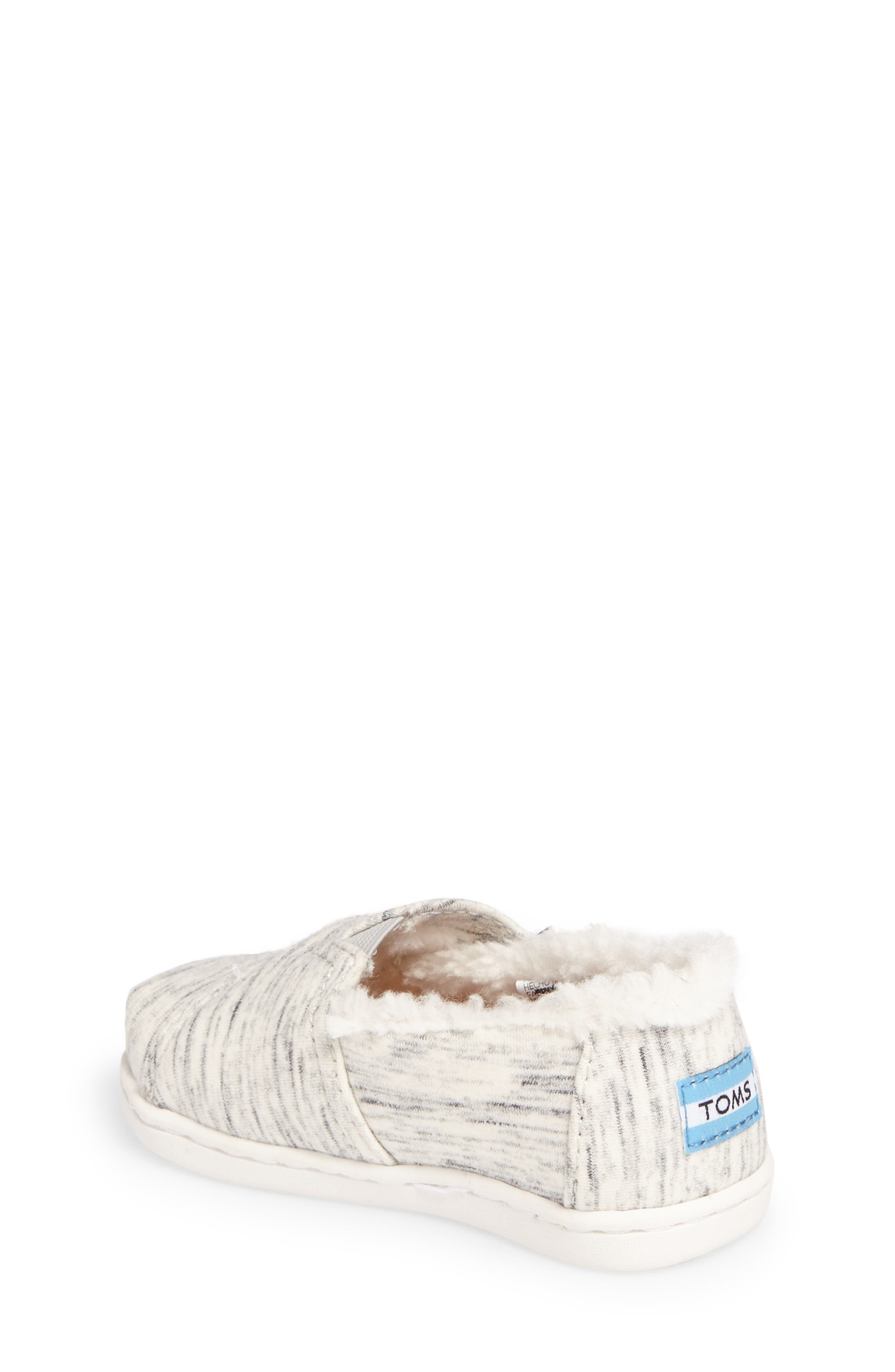 Classic - Tiny Herringbone Faux Shearling Lined Slip-On,                             Alternate thumbnail 2, color,                             BIRCH JERSEY/ FAUX SHEARLING