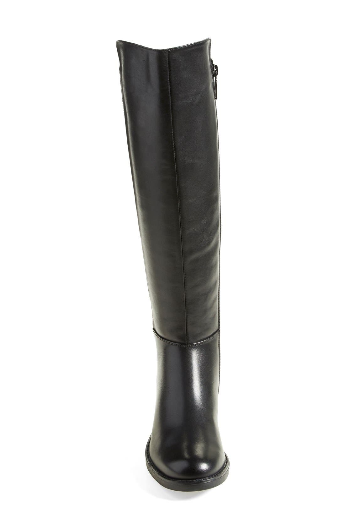'Elenor' Waterproof Riding Boot,                             Alternate thumbnail 2, color,                             001