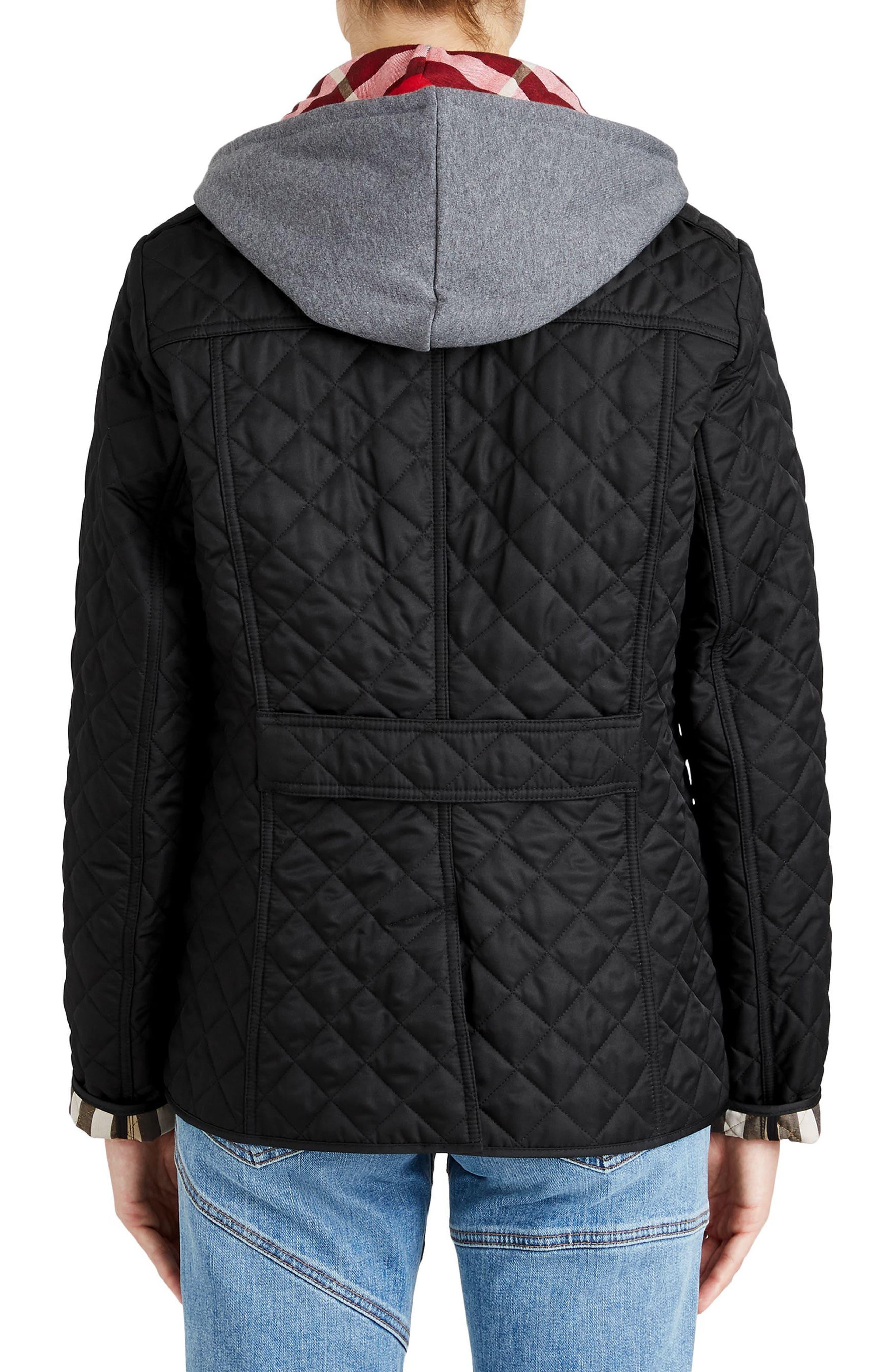 Ashurst Quilted Jacket,                             Alternate thumbnail 2, color,                             BLACK