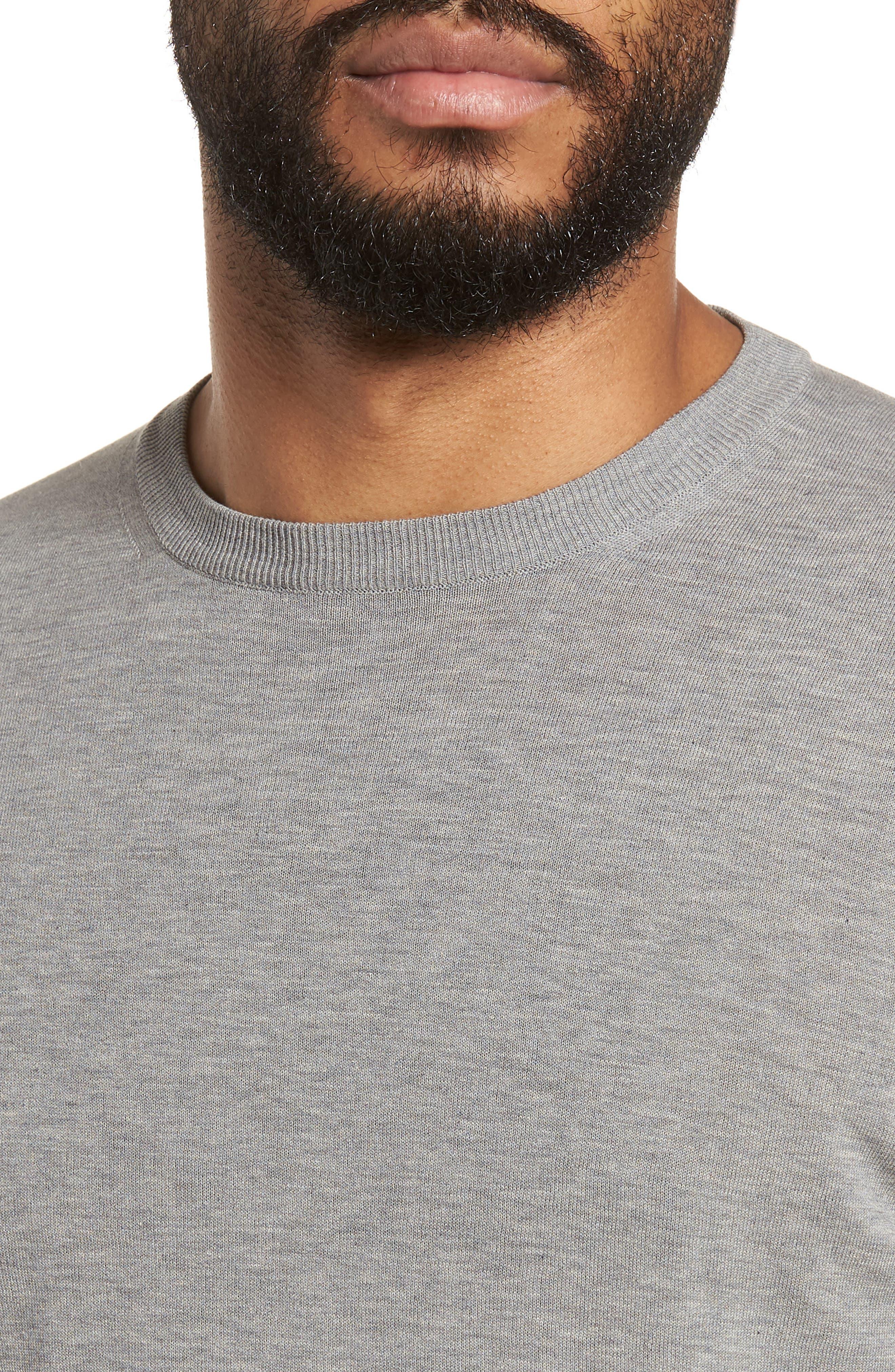 Fresco Crewneck Cotton T-Shirt,                             Alternate thumbnail 4, color,                             021