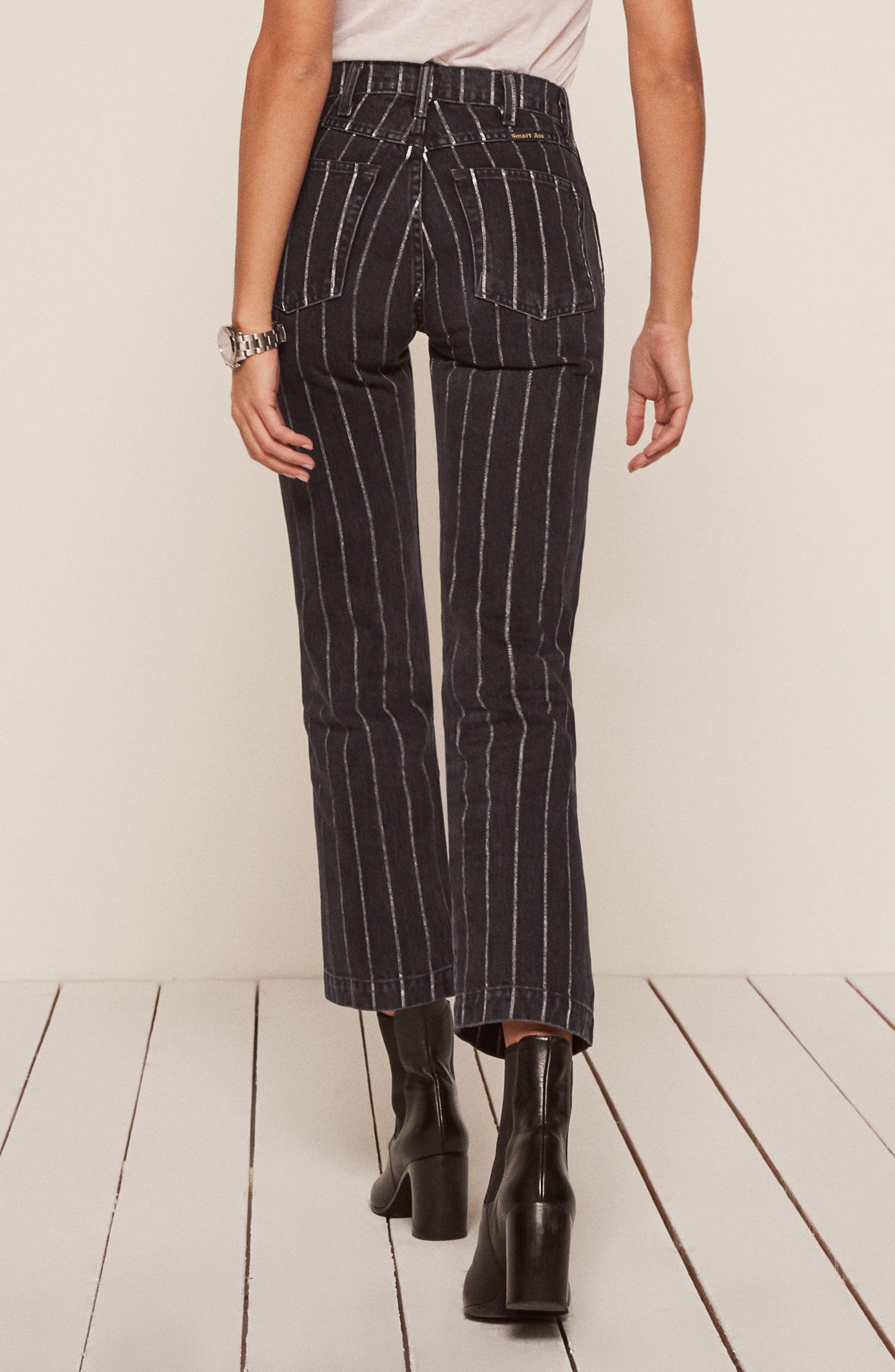Roper Crop Straight Leg Jeans,                             Alternate thumbnail 2, color,                             001