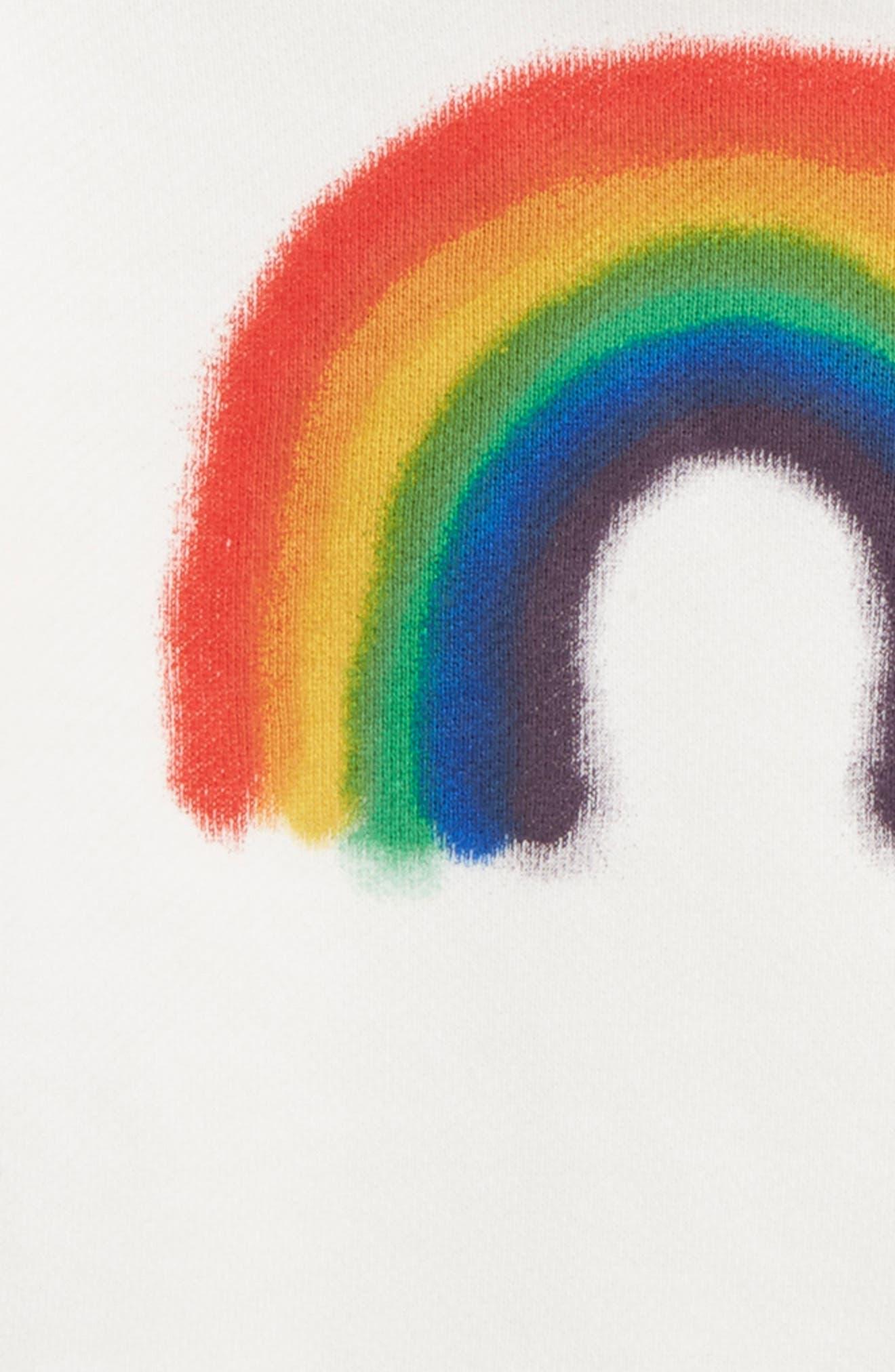 Maxi Rainbow Sweatshirt,                             Alternate thumbnail 2, color,                             113