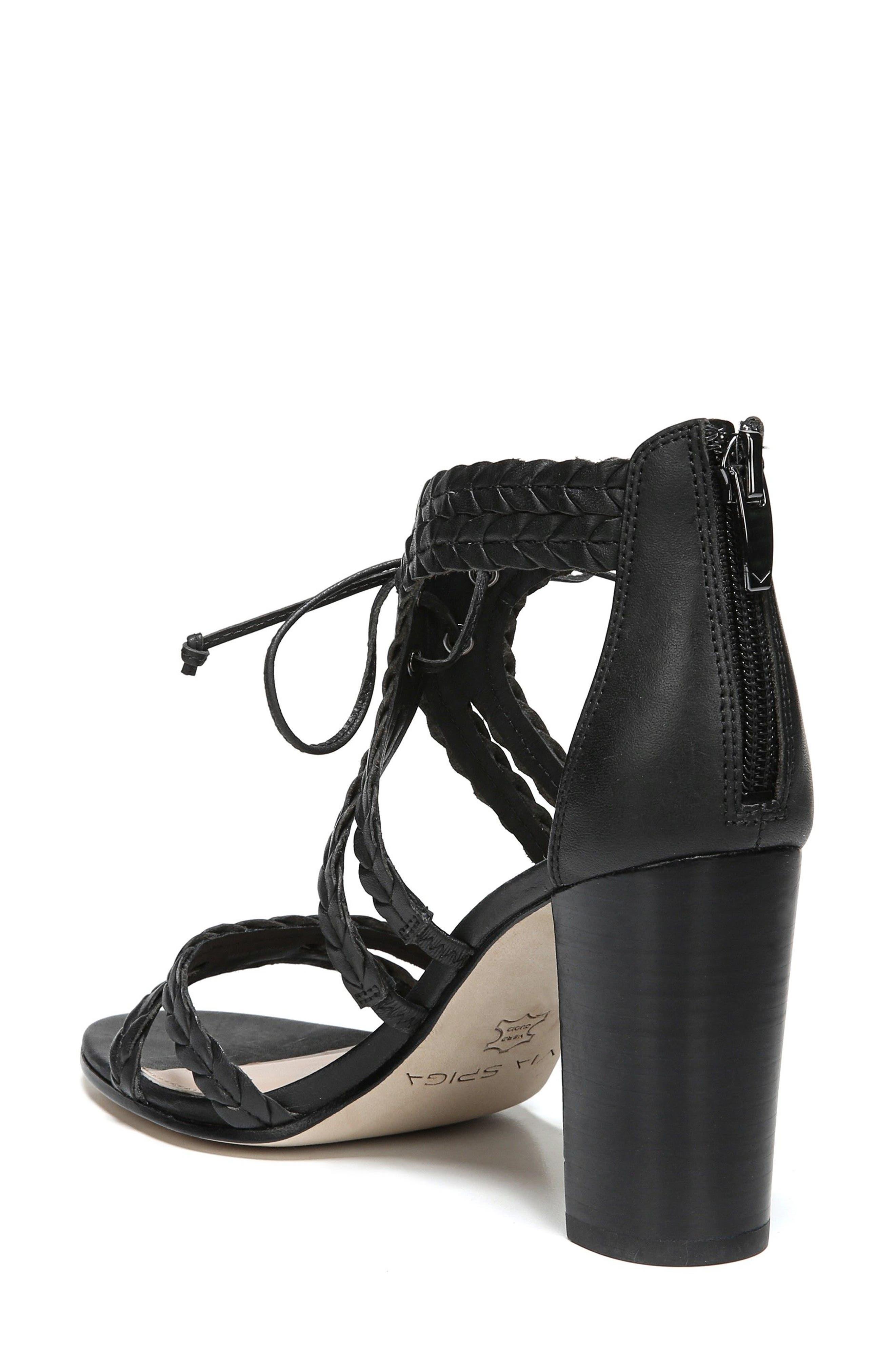 VIA SPIGA,                             Gardenia Lace-Up Sandal,                             Alternate thumbnail 2, color,                             001