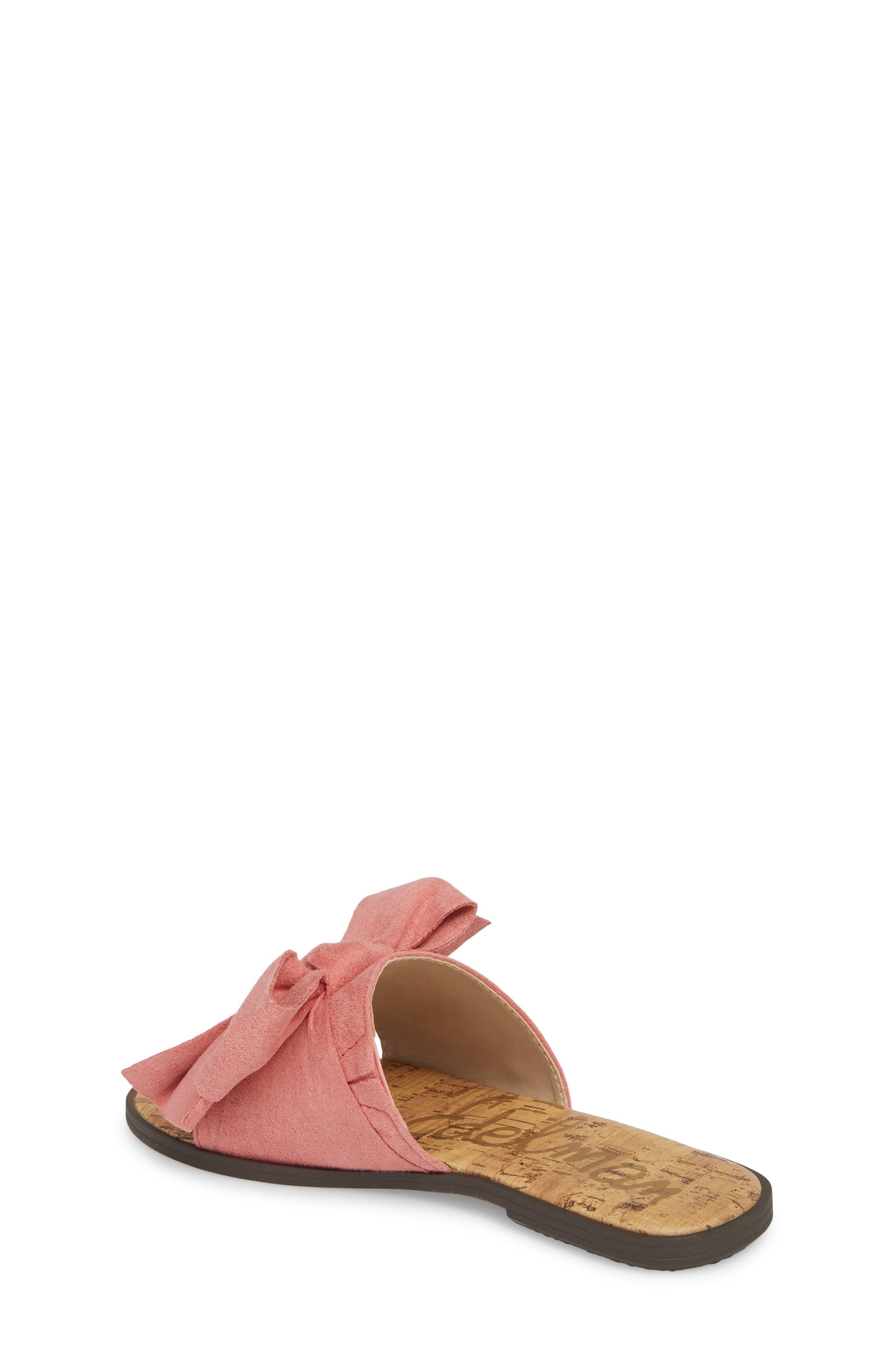 Gigi Bow Faux Leather Sandal,                             Alternate thumbnail 5, color,