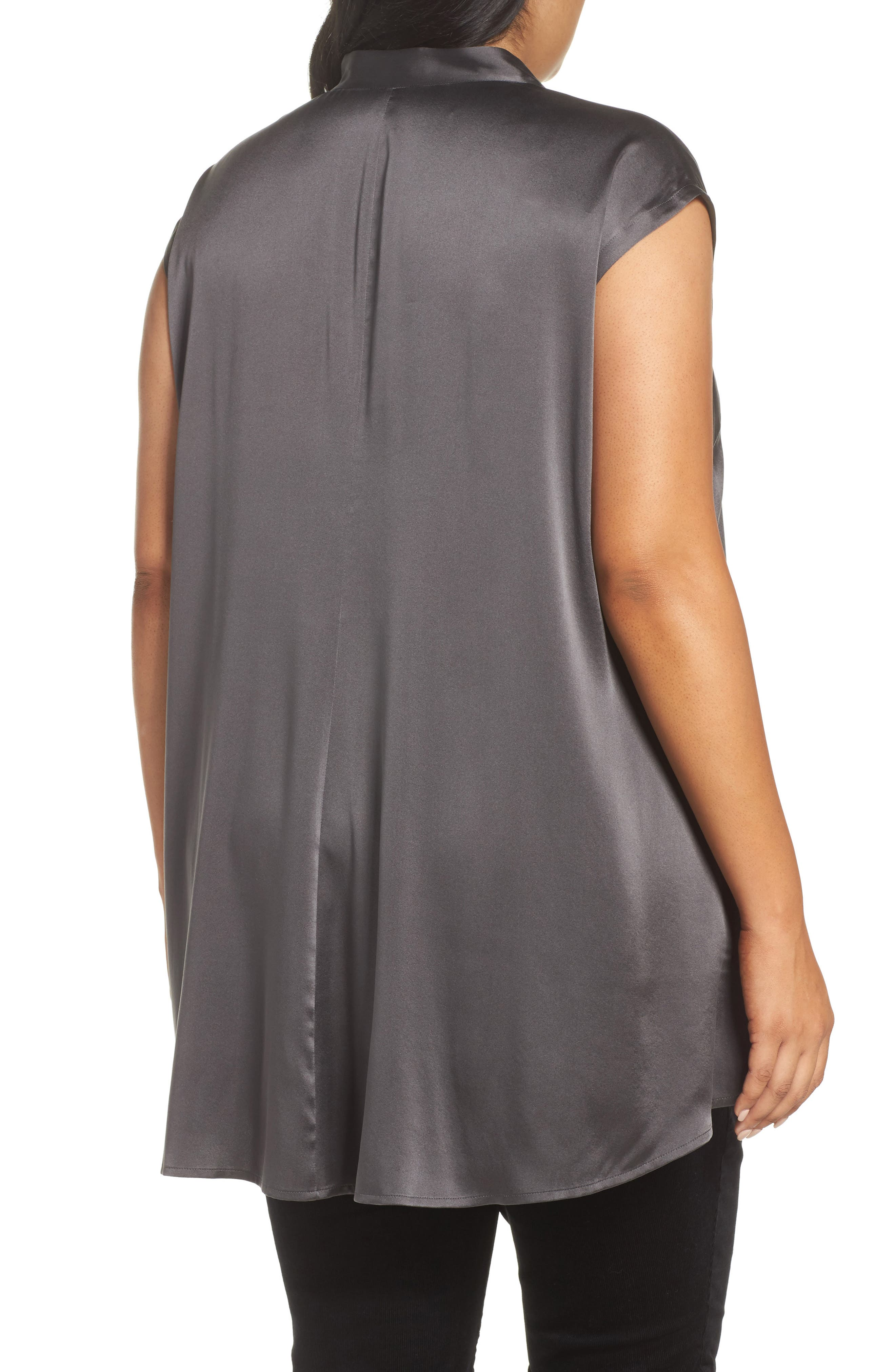 Stretch Silk Top,                             Alternate thumbnail 2, color,                             210