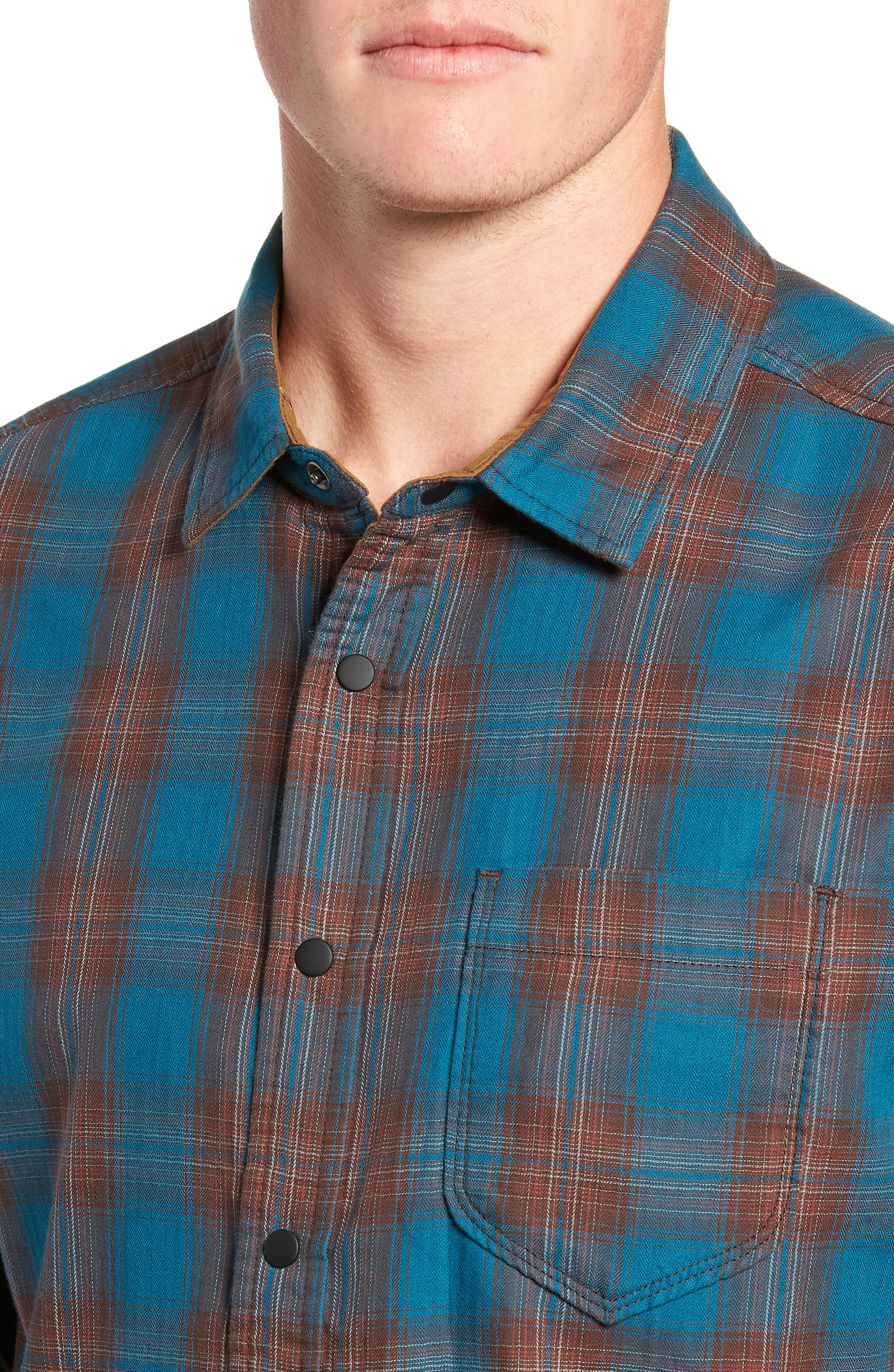Howler Regular Fit Reversible Sport Shirt,                             Alternate thumbnail 3, color,                             LEGION BLUE HEATHER
