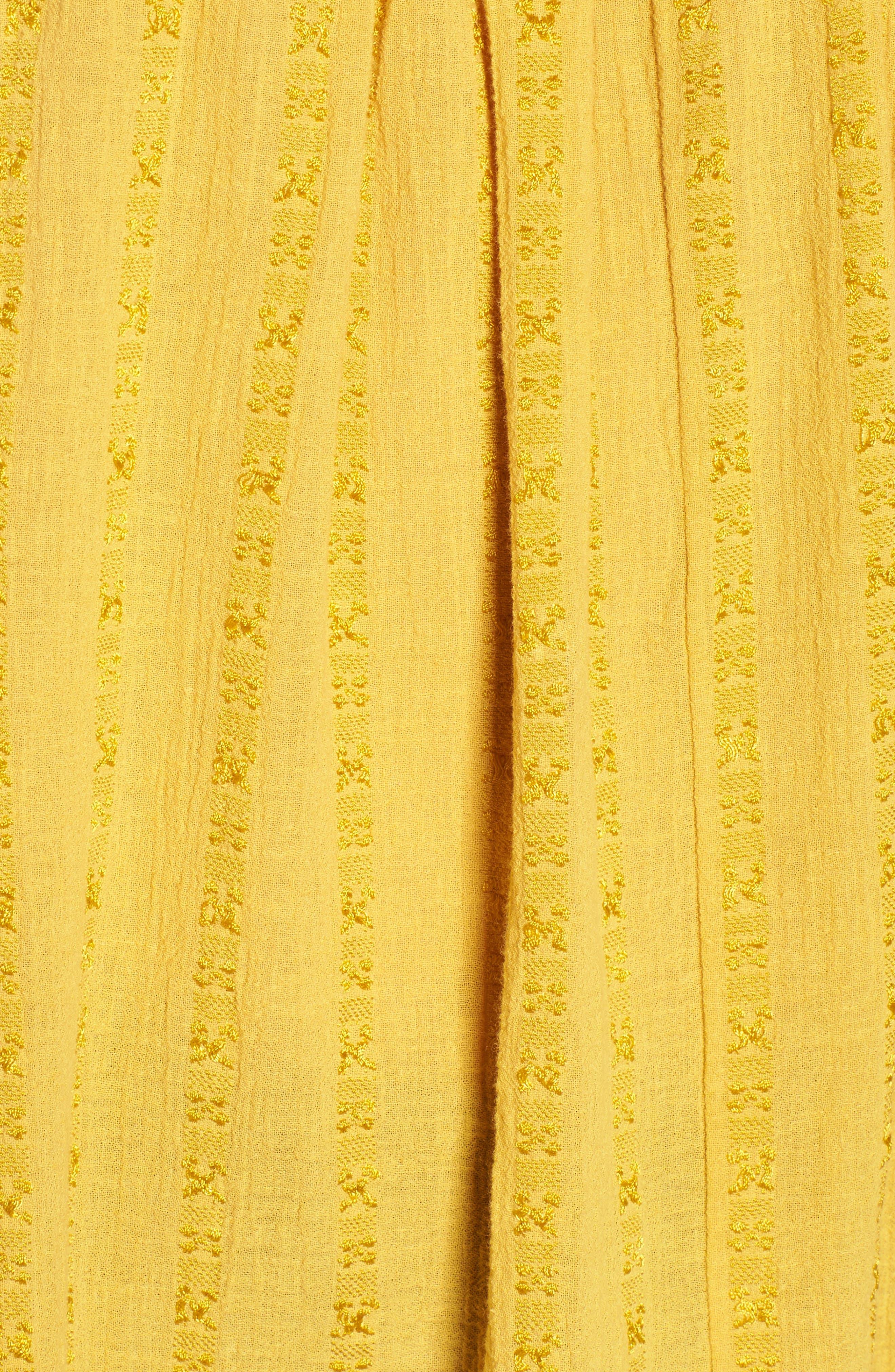 Woven Stripe Off the Shoulder Top,                             Alternate thumbnail 5, color,                             700