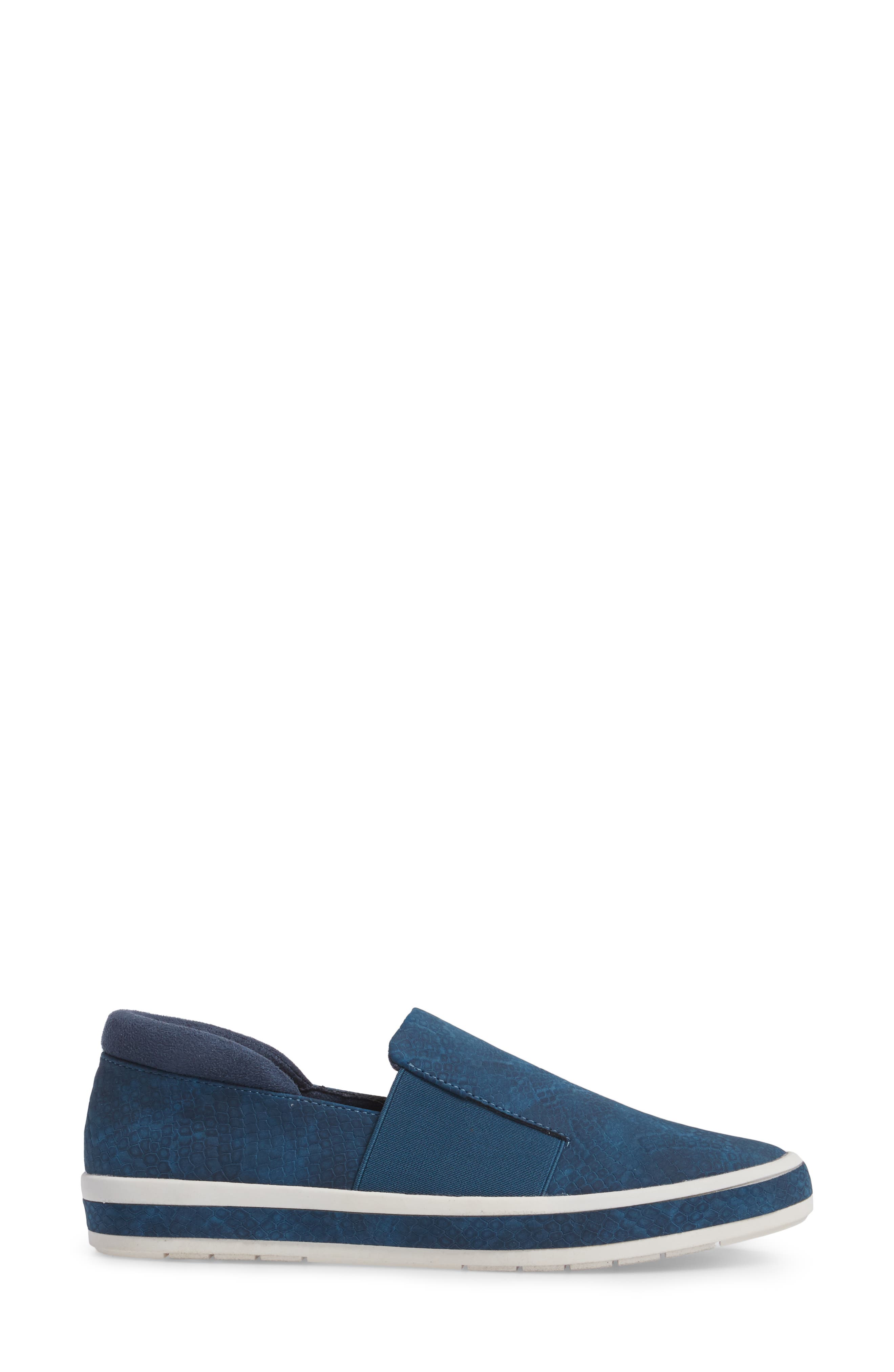 Switch II Slip-On Sneaker,                             Alternate thumbnail 3, color,                             NAVY PRINTED LEATHER