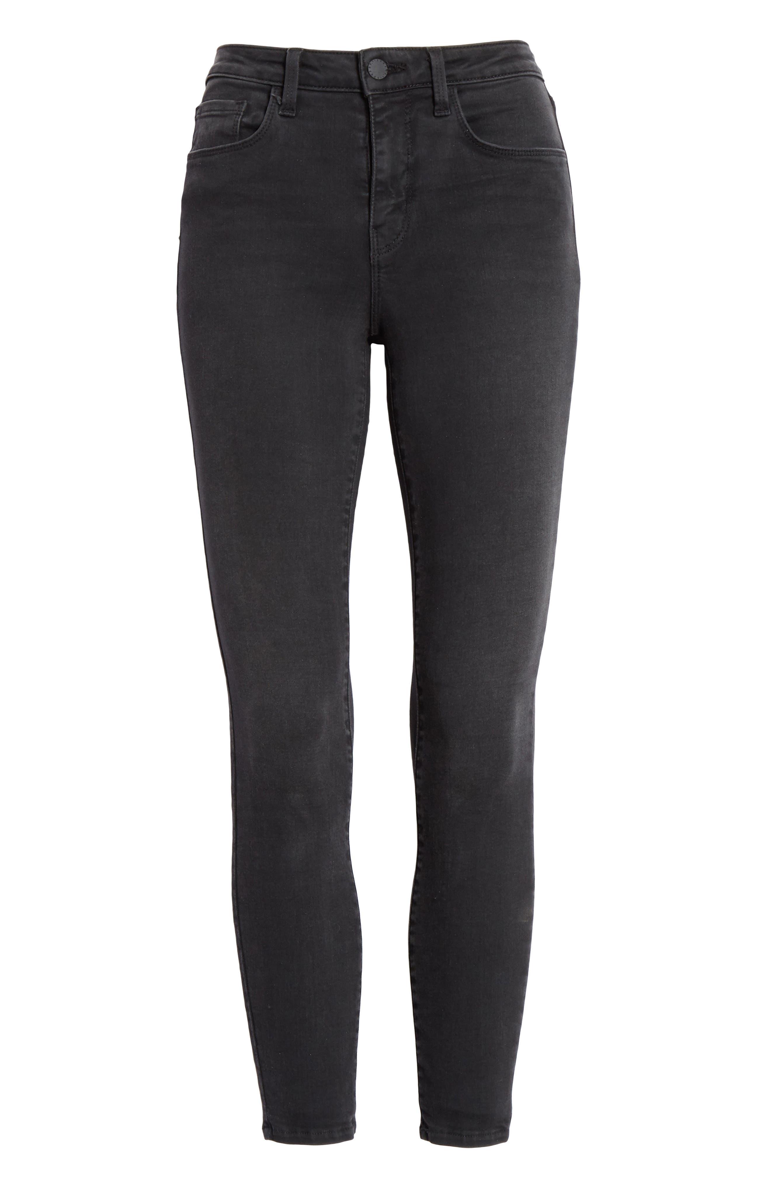 Margot Crop Skinny Jeans,                             Alternate thumbnail 6, color,                             DARK GRAPHITE