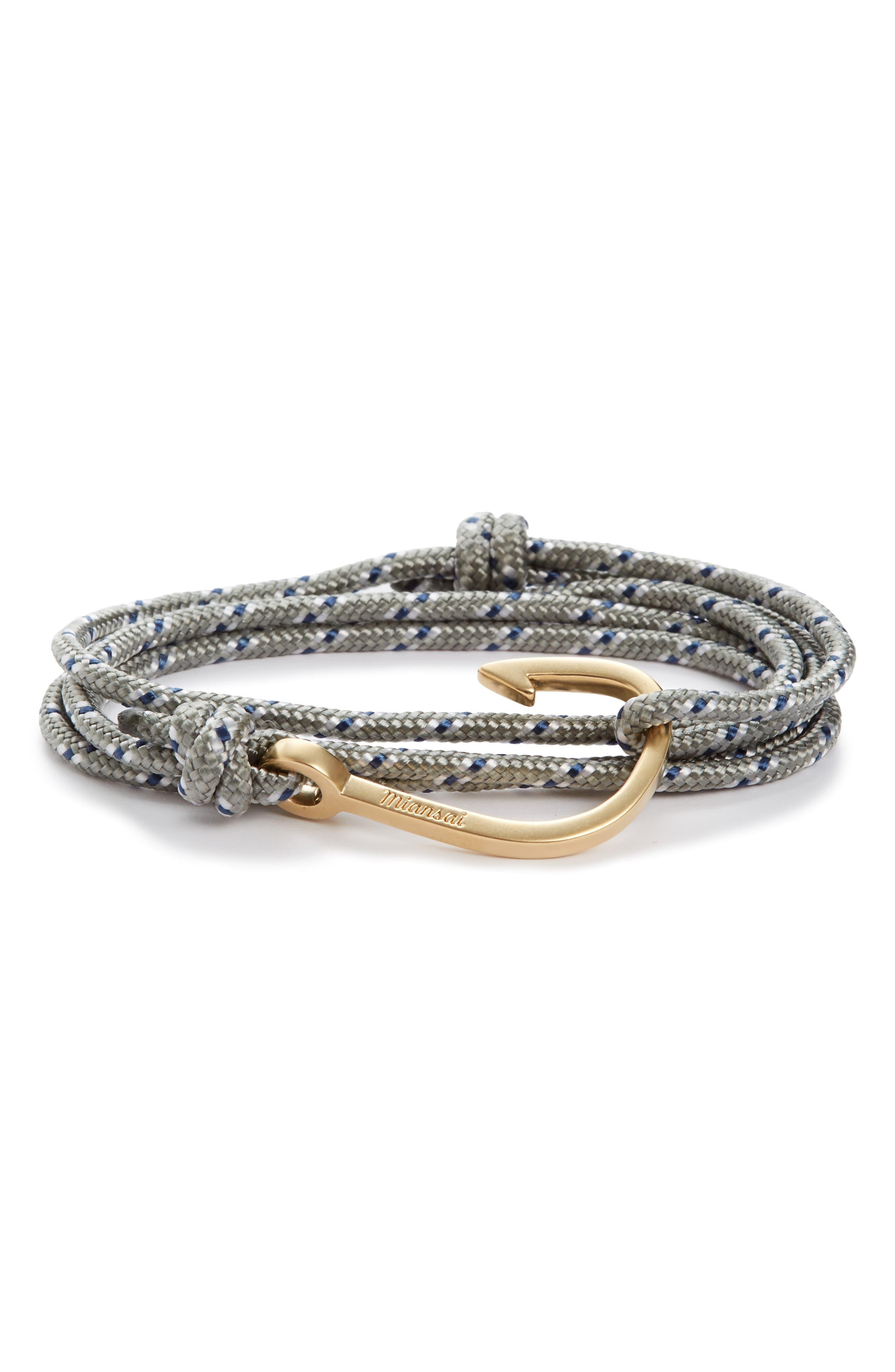 Hook Rope Wrap Bracelet,                             Main thumbnail 1, color,                             051