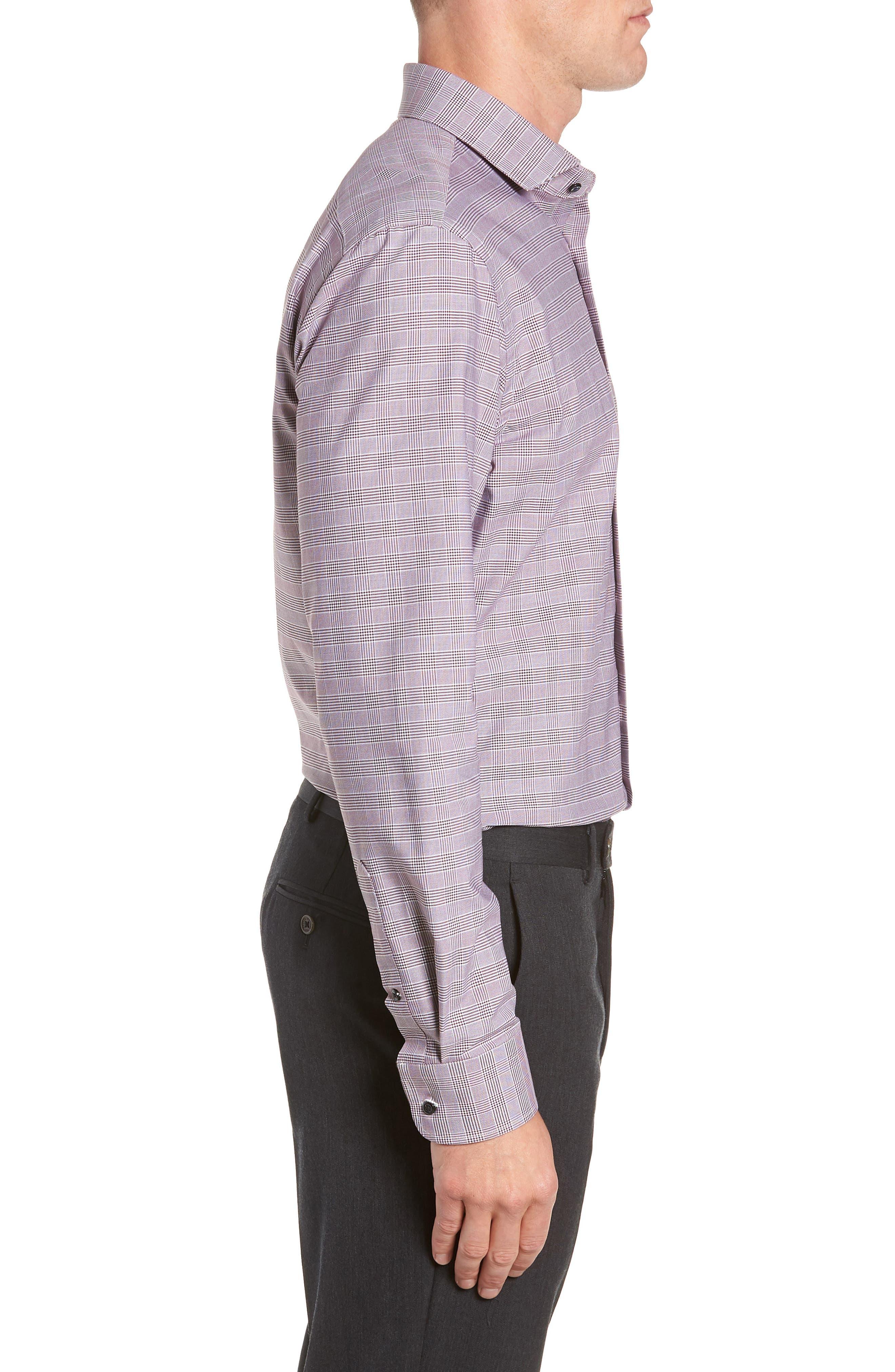 Tech-Smart Trim Fit Stretch Plaid Dress Shirt,                             Alternate thumbnail 14, color,