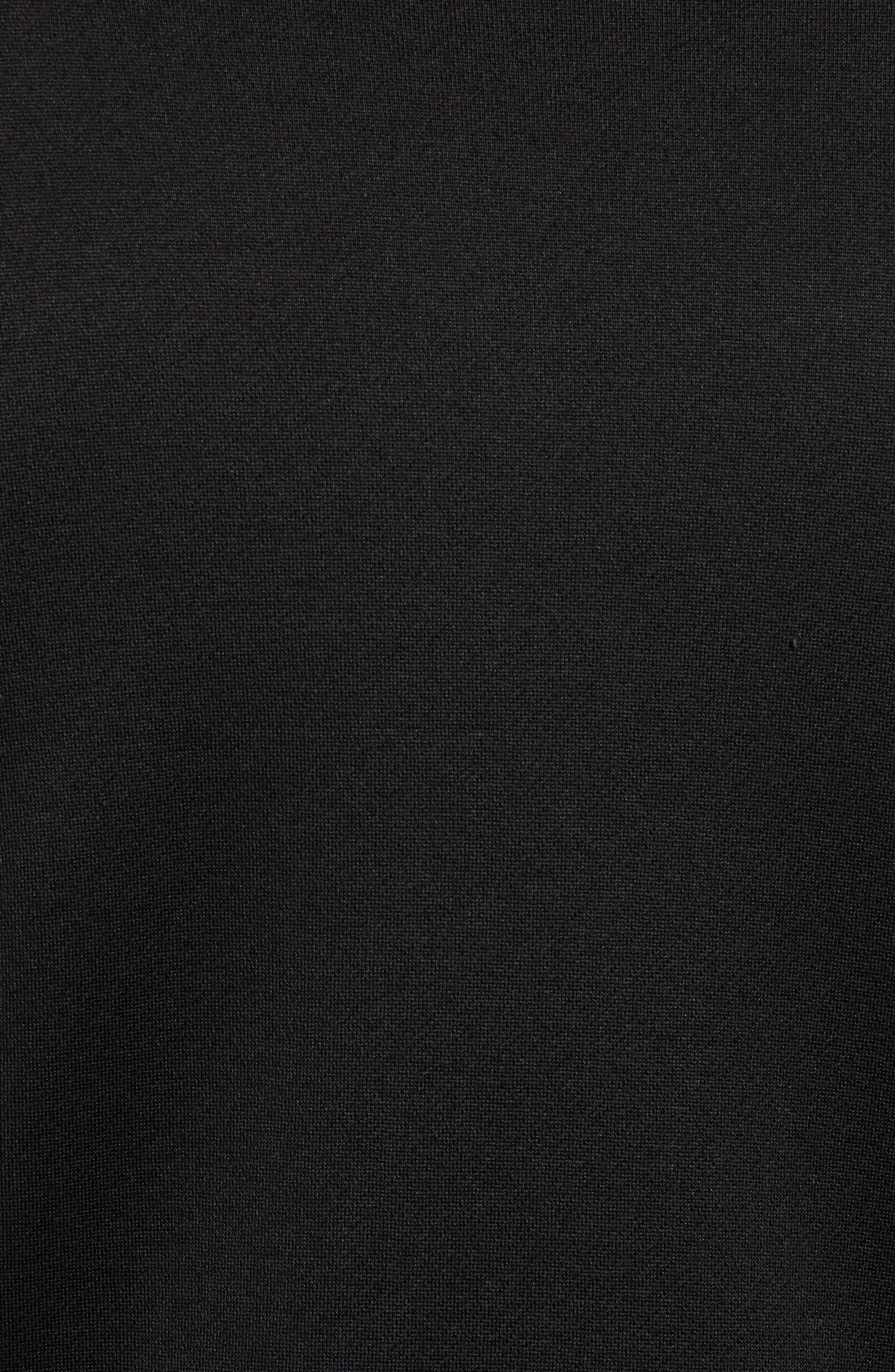 French Terry Zip Front Jacket,                             Alternate thumbnail 6, color,                             BLACK
