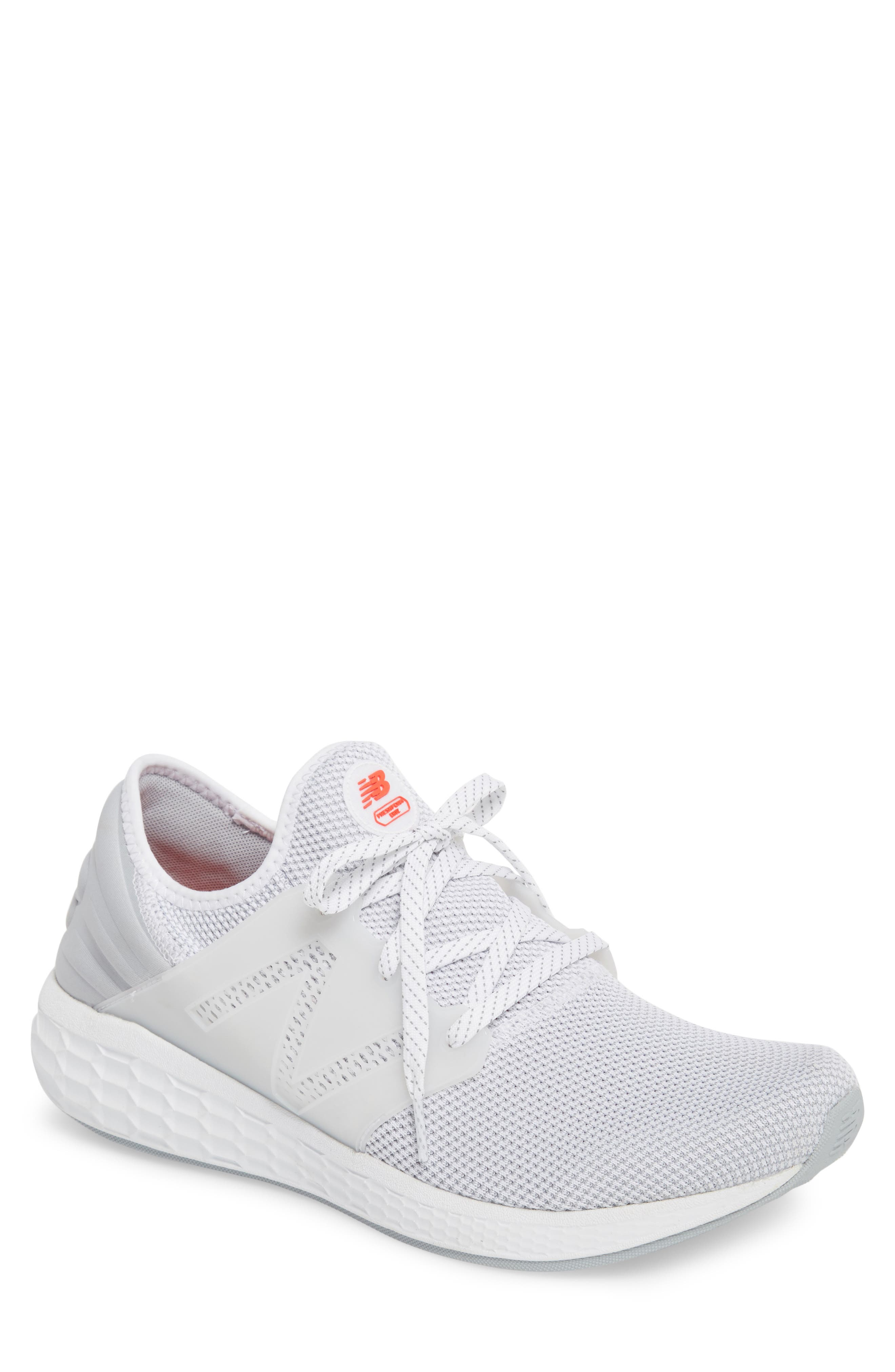 Fresh Foam Cruz v2 Sport Running Shoe,                             Main thumbnail 1, color,                             WHITE