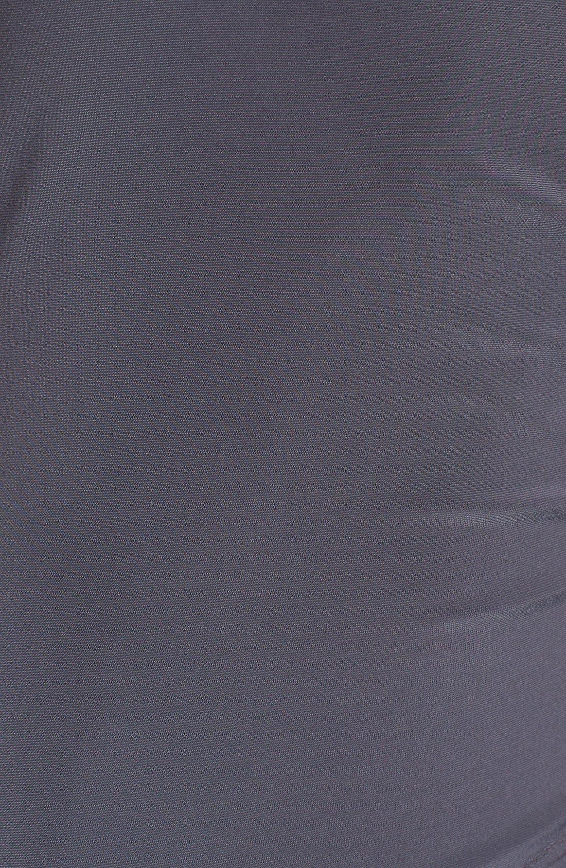 Matte Jersey Faux Wrap Fit & Flare Dress,                             Alternate thumbnail 14, color,