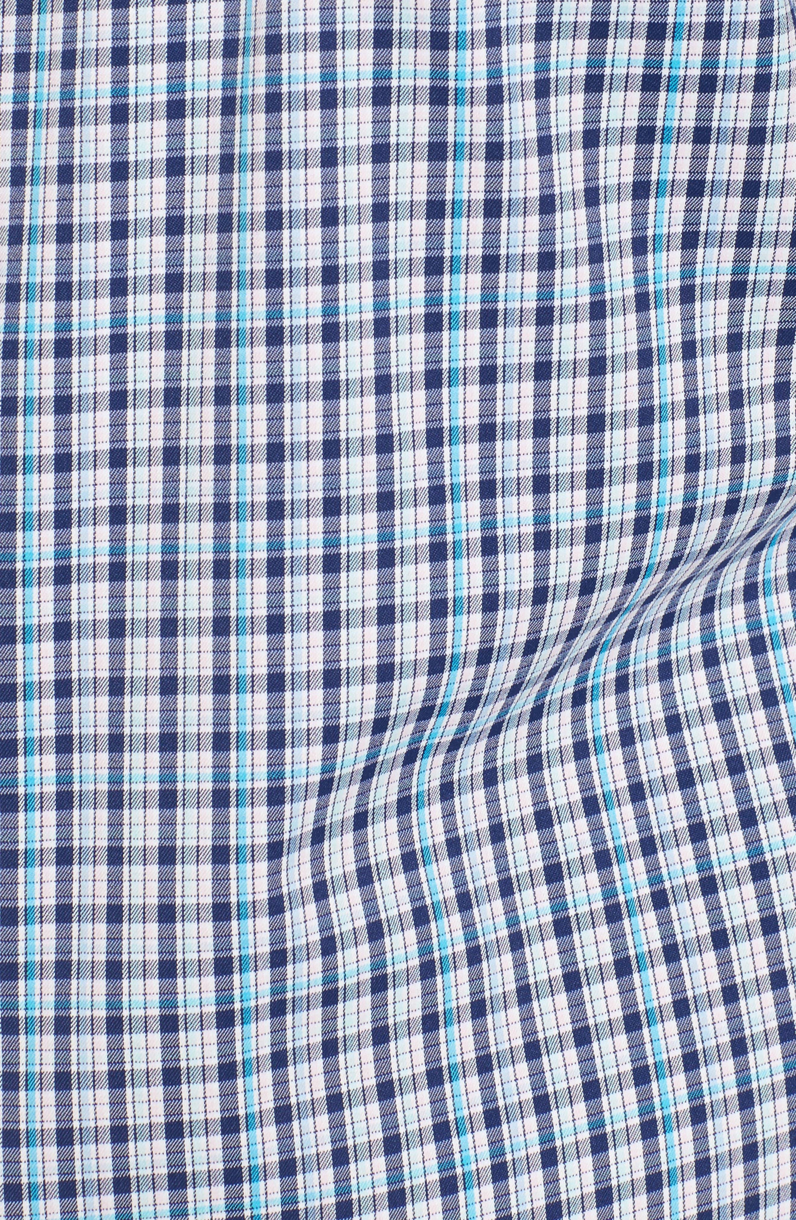 Jojo Check Performance Sport Shirt,                             Alternate thumbnail 5, color,                             411