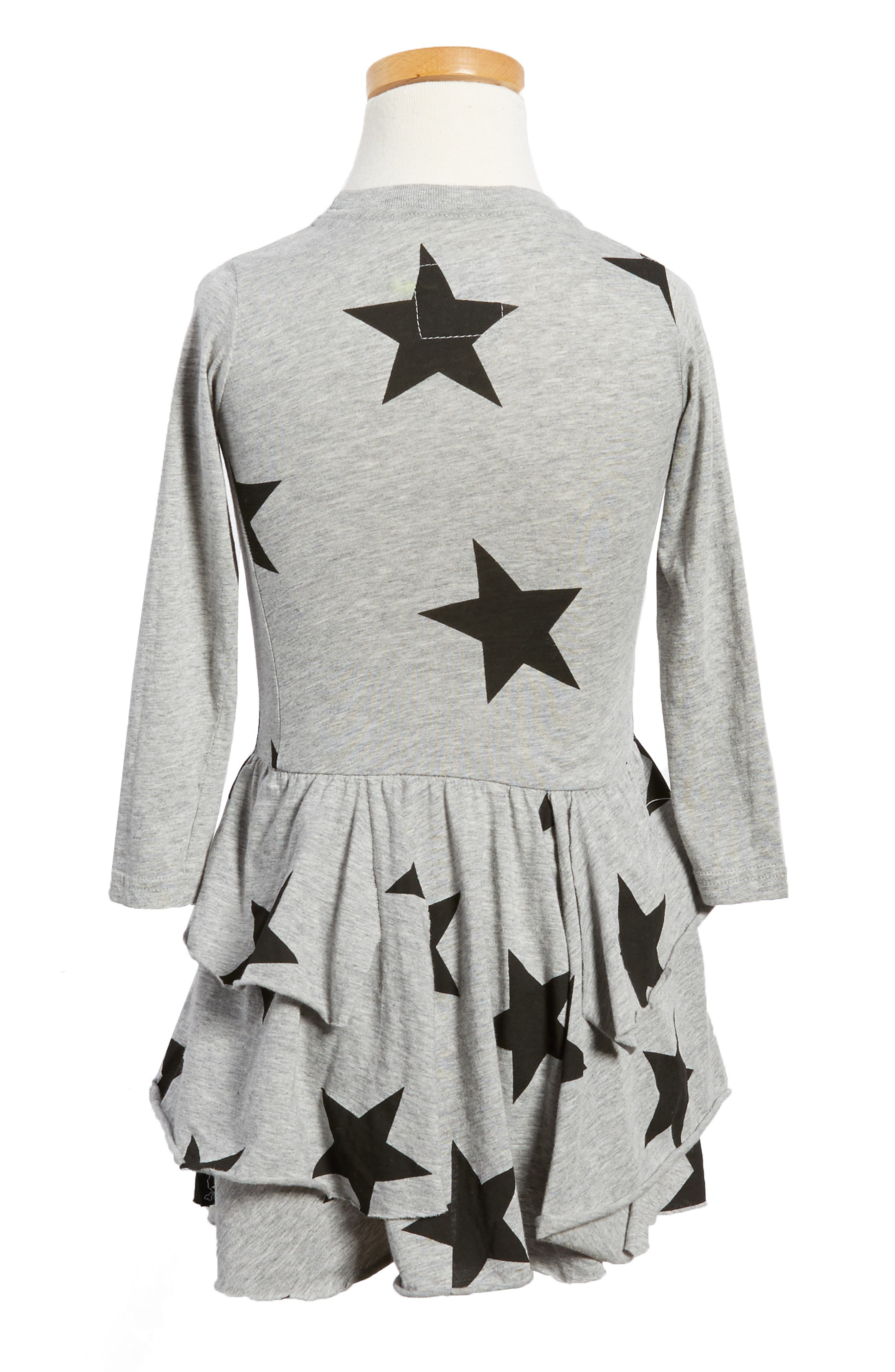 Star Print Layered Dress,                             Alternate thumbnail 2, color,                             050