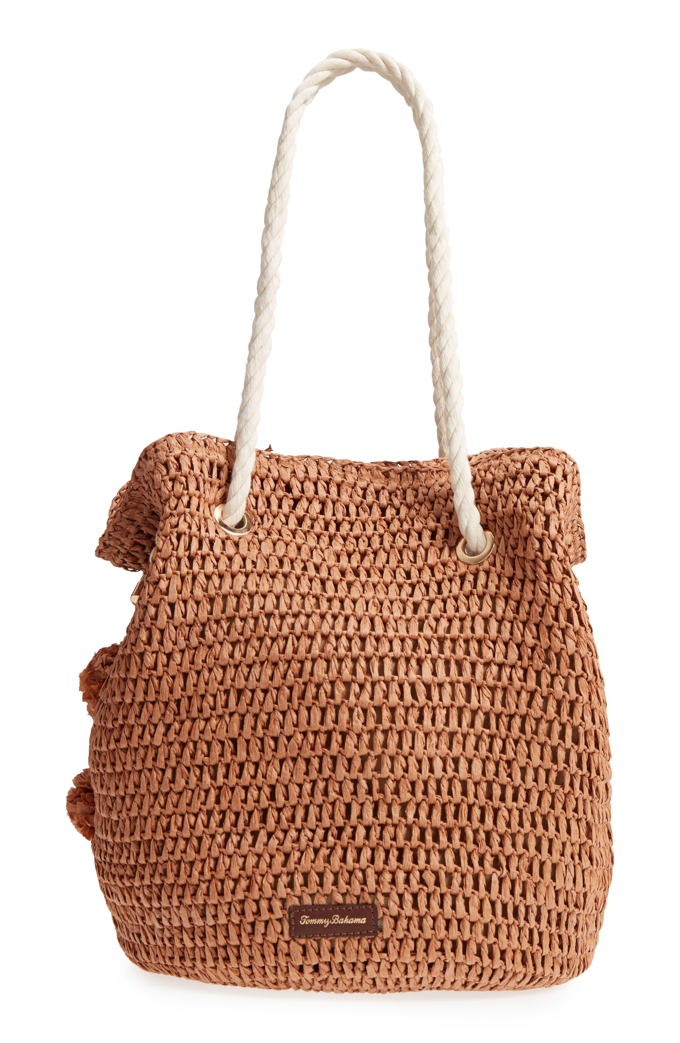 Mama Straw Bucket Bag,                             Alternate thumbnail 5, color,