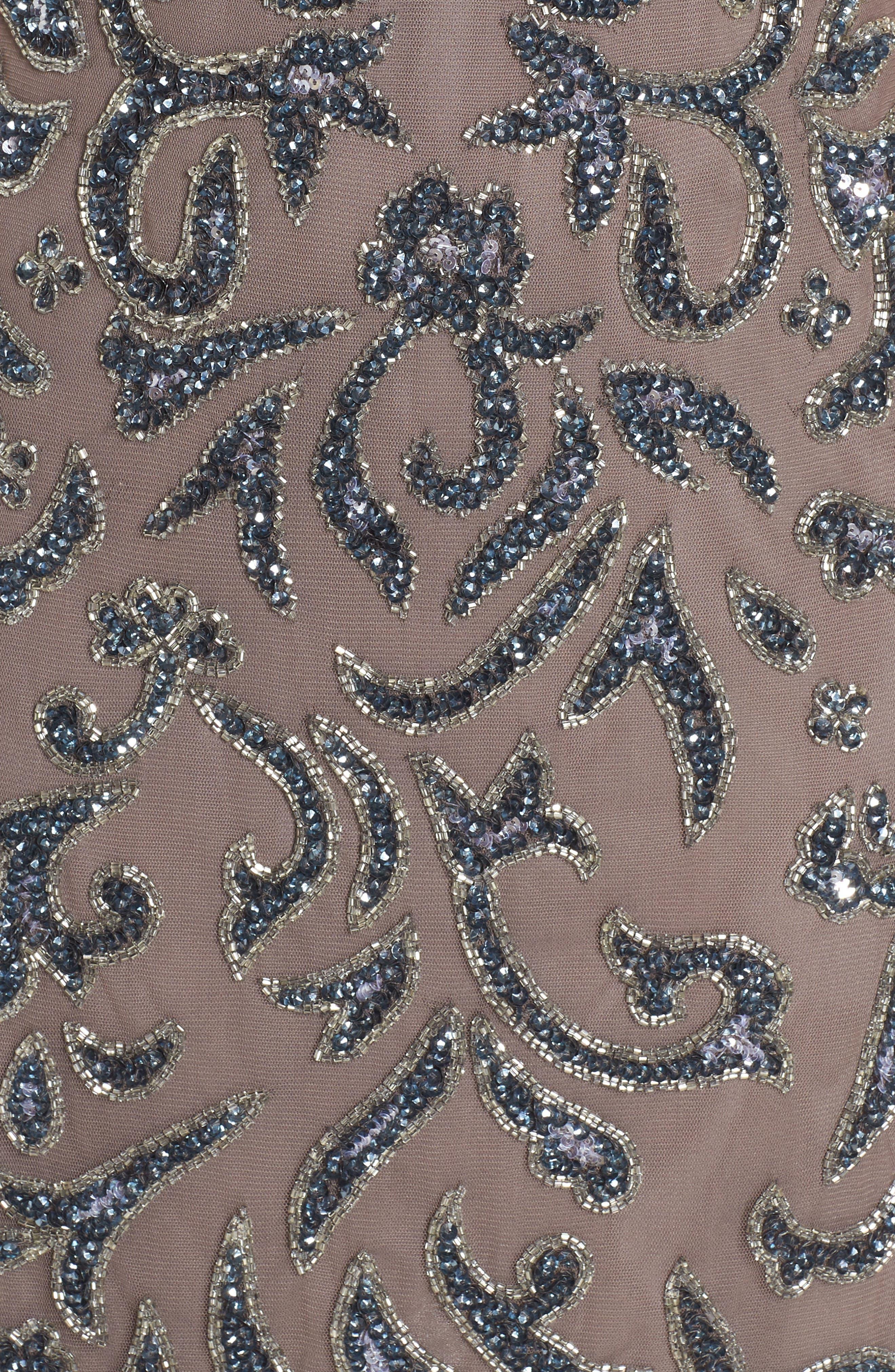 Sequin & Bead Embellished Sheath,                             Alternate thumbnail 6, color,                             SMOKE