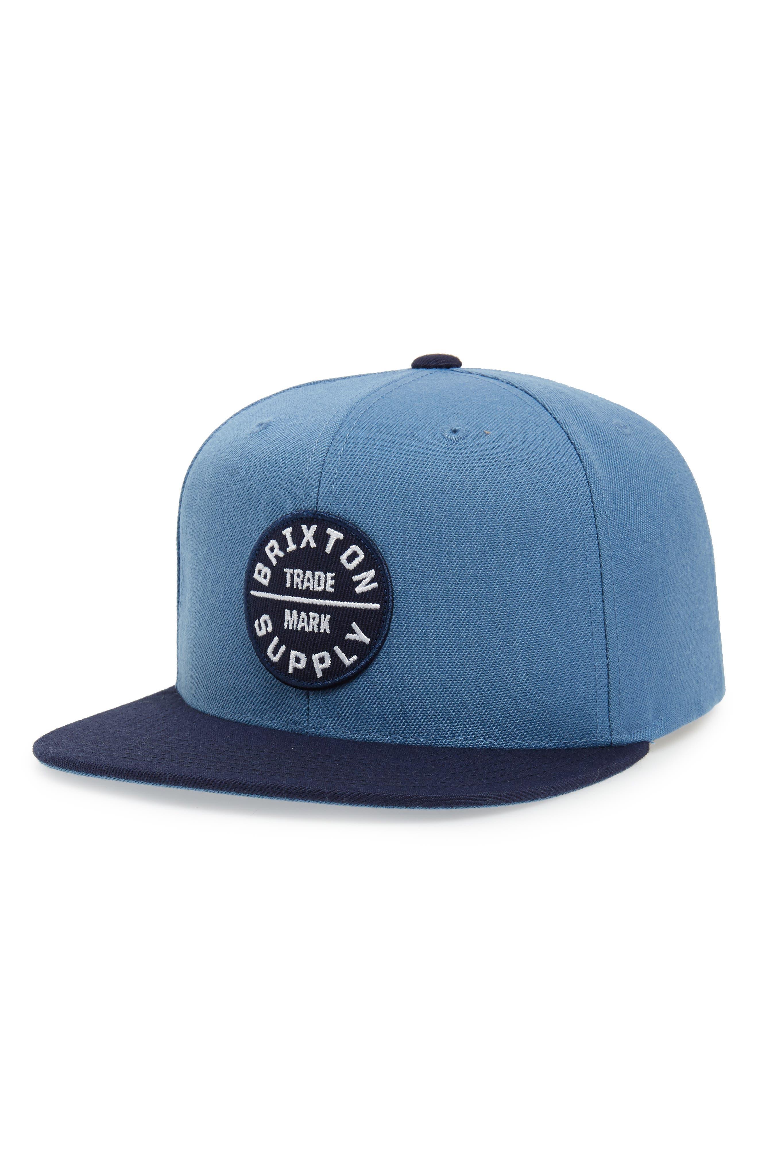 'Oath III' Snapback Cap, Main, color, GREY BLUE/ NAVY