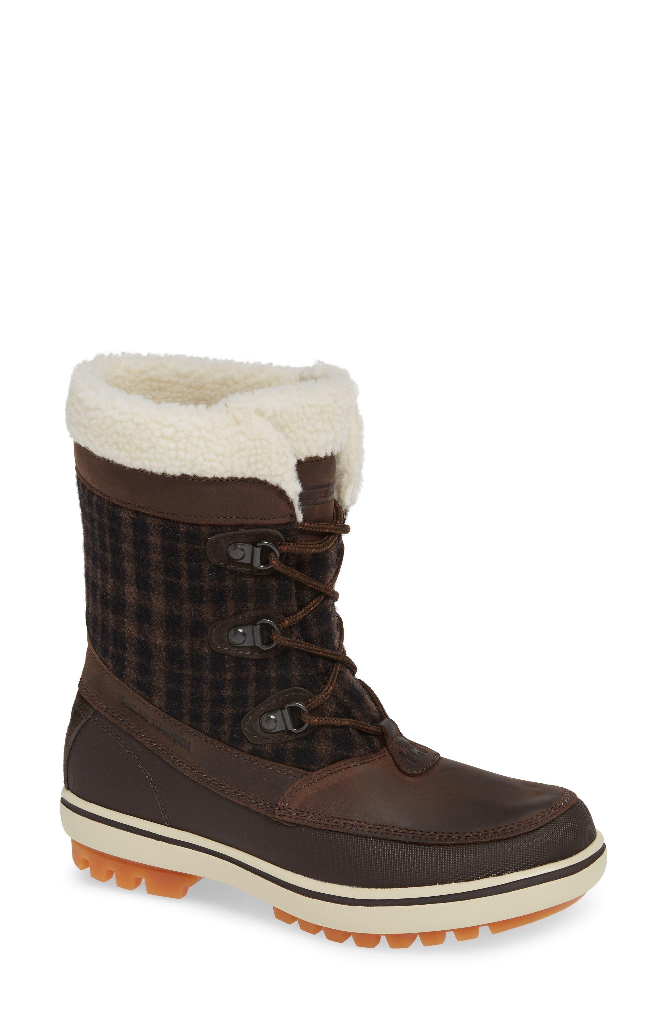 Georgina Snow Waterproof Boot,                             Main thumbnail 1, color,                             CLAY/ COFFEE BEAN