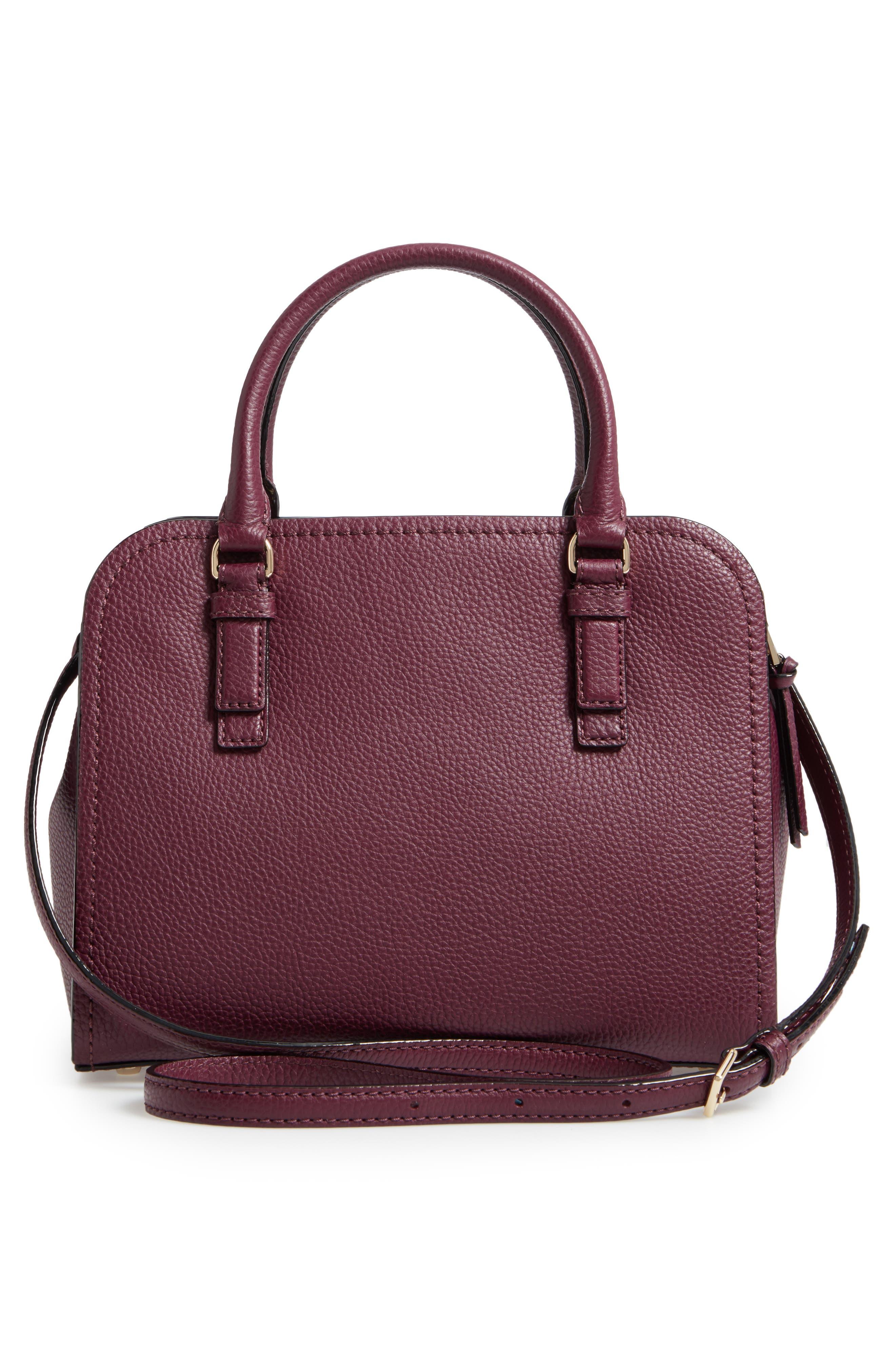 jackson street small kiernan leather top handle satchel,                             Alternate thumbnail 3, color,                             545