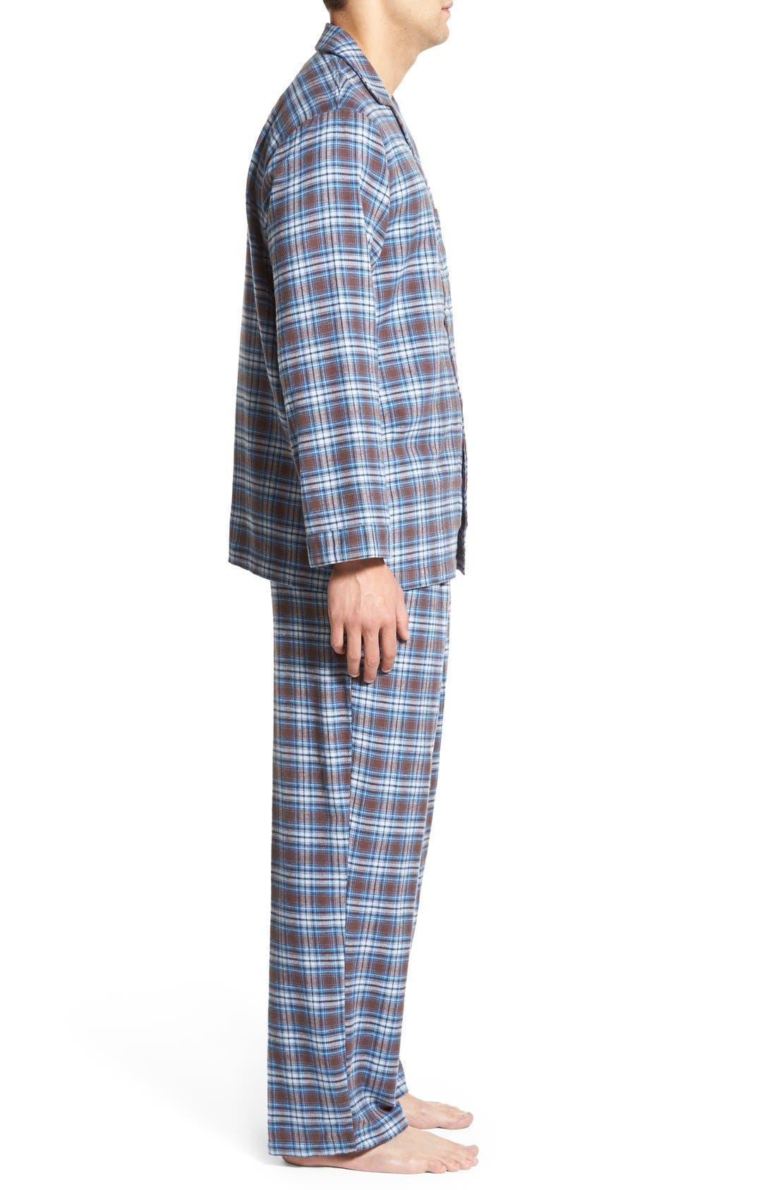 '824' Flannel Pajama Set,                             Alternate thumbnail 73, color,