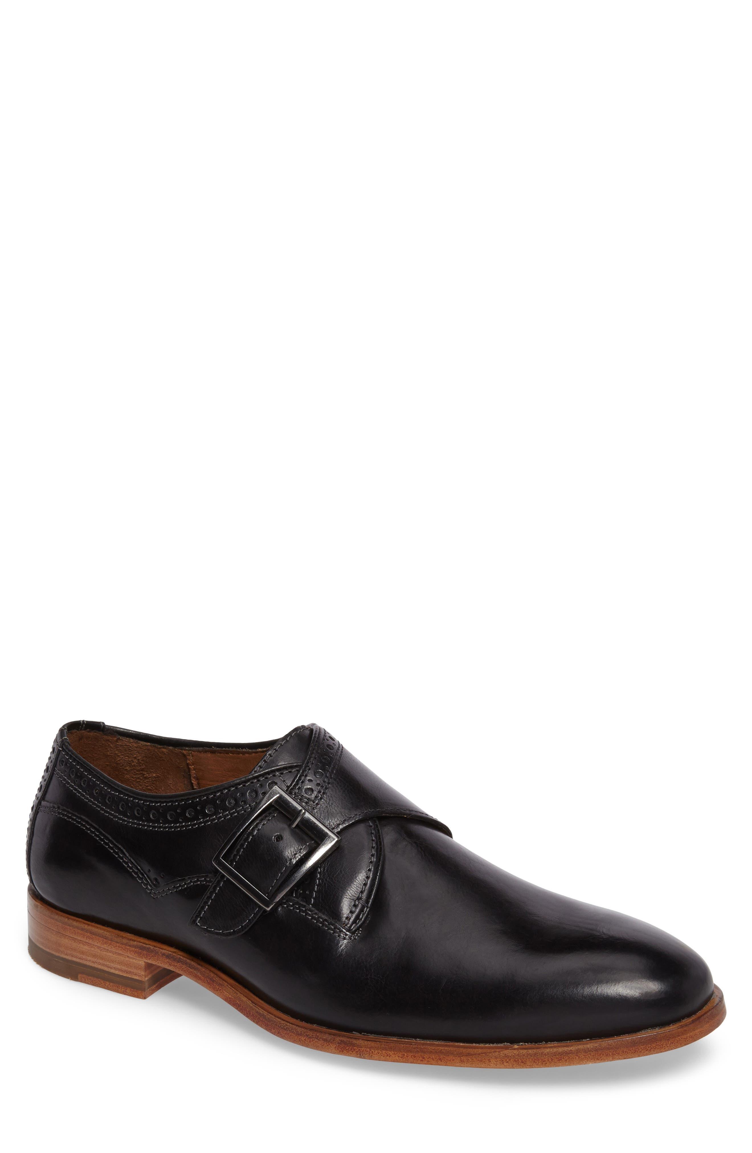 Graham Monk Strap Shoe,                             Main thumbnail 1, color,                             001