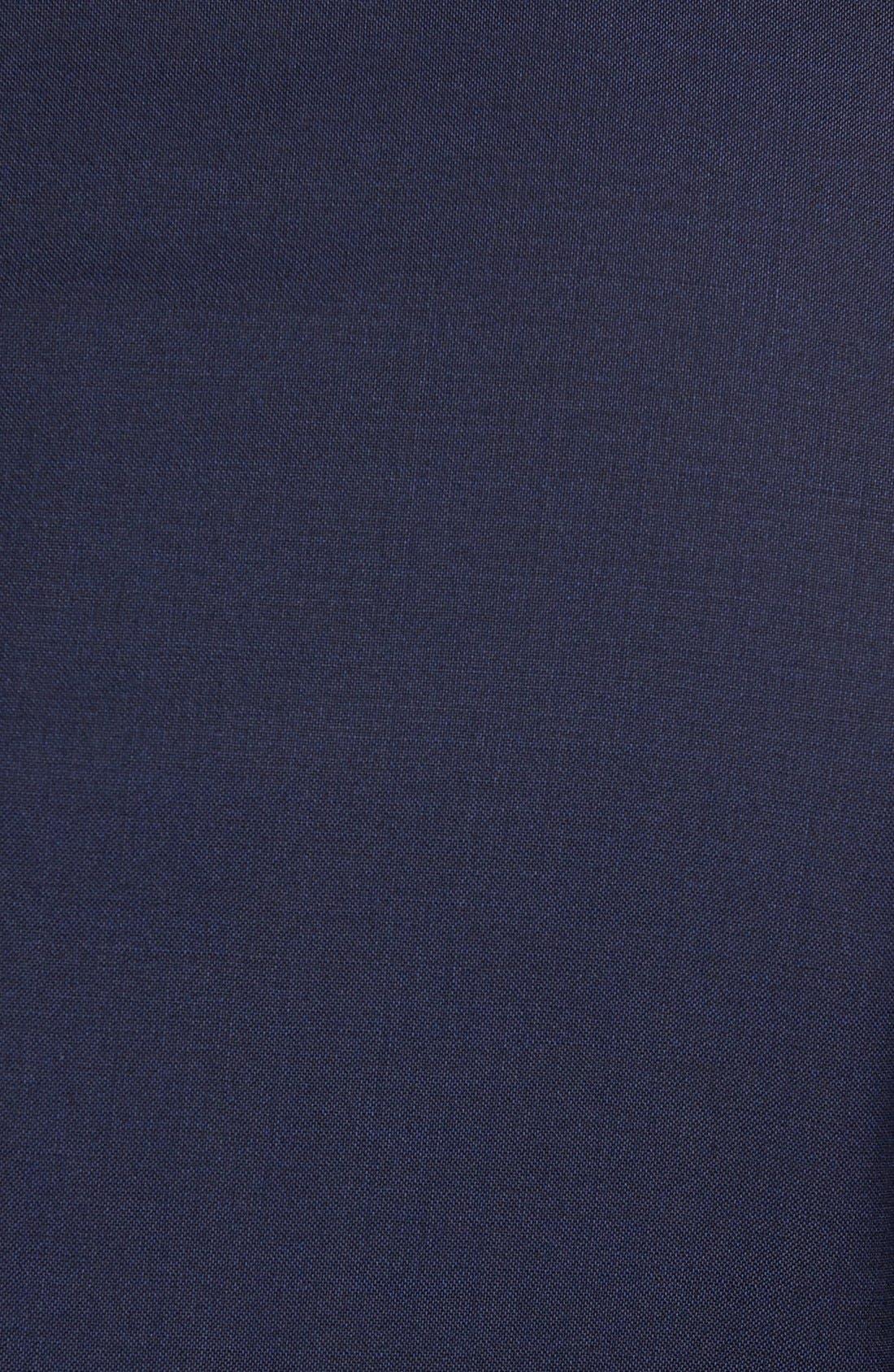 Huge/Genius Trim Fit Navy Wool Suit,                             Alternate thumbnail 2, color,                             NAVY