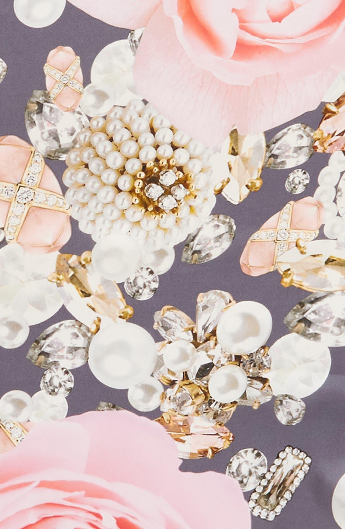 Blenheim Jewels Diamond Silk Scarf,                             Alternate thumbnail 4, color,