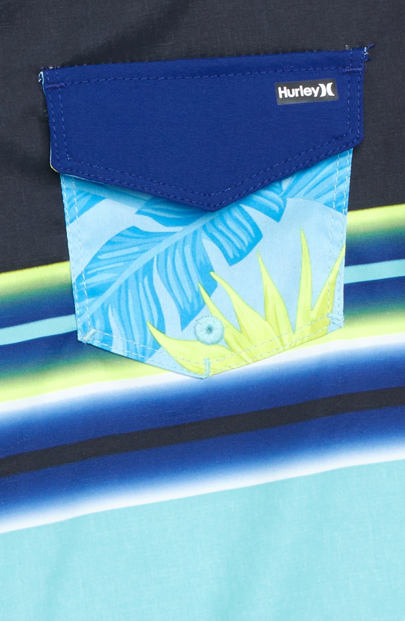 Zen Stripe Board Shorts,                             Alternate thumbnail 3, color,                             TROPICAL TWIST