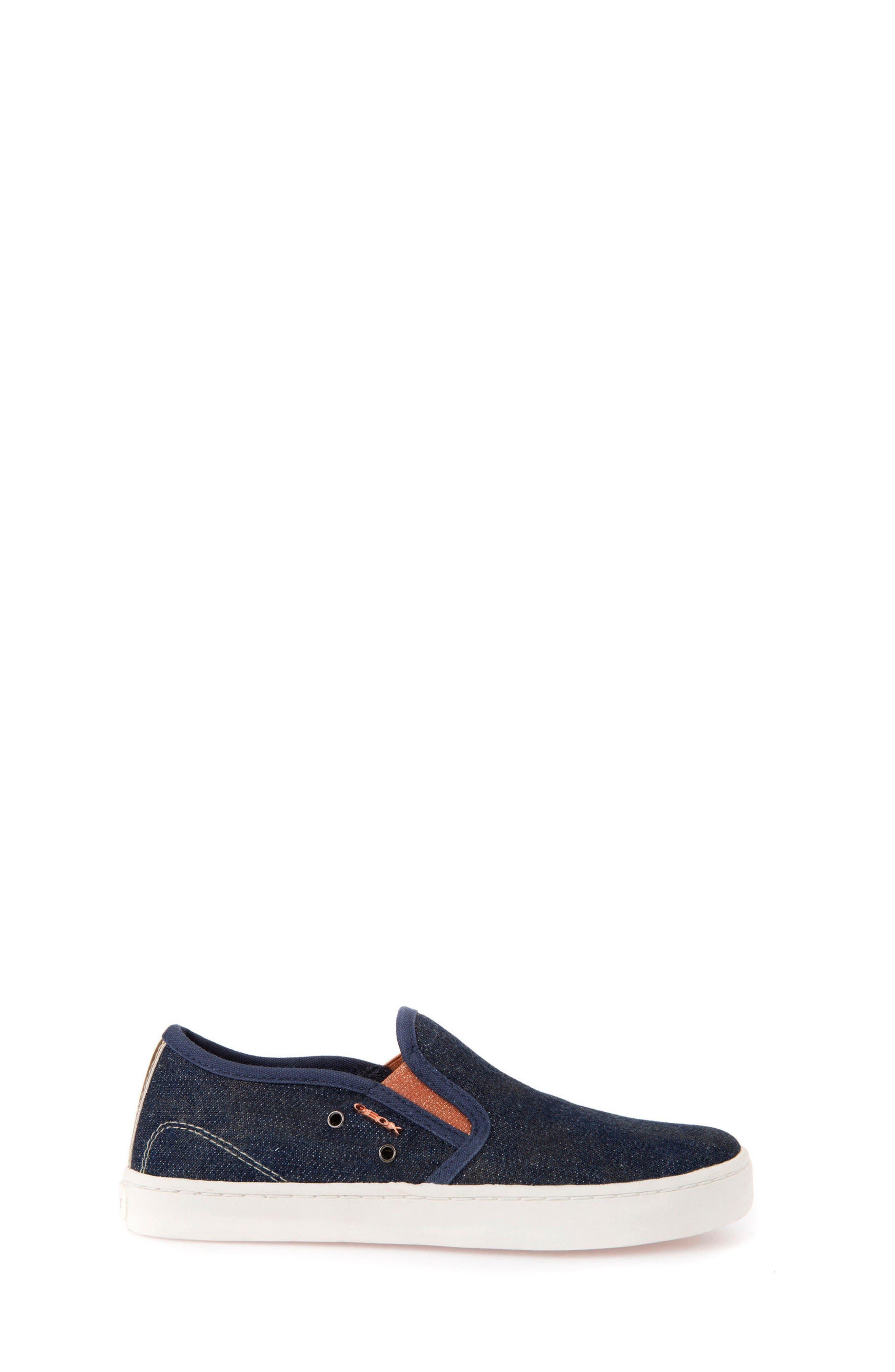 Jr Kiwi Slip-On Waterproof Sneaker,                             Alternate thumbnail 3, color,                             JEANS