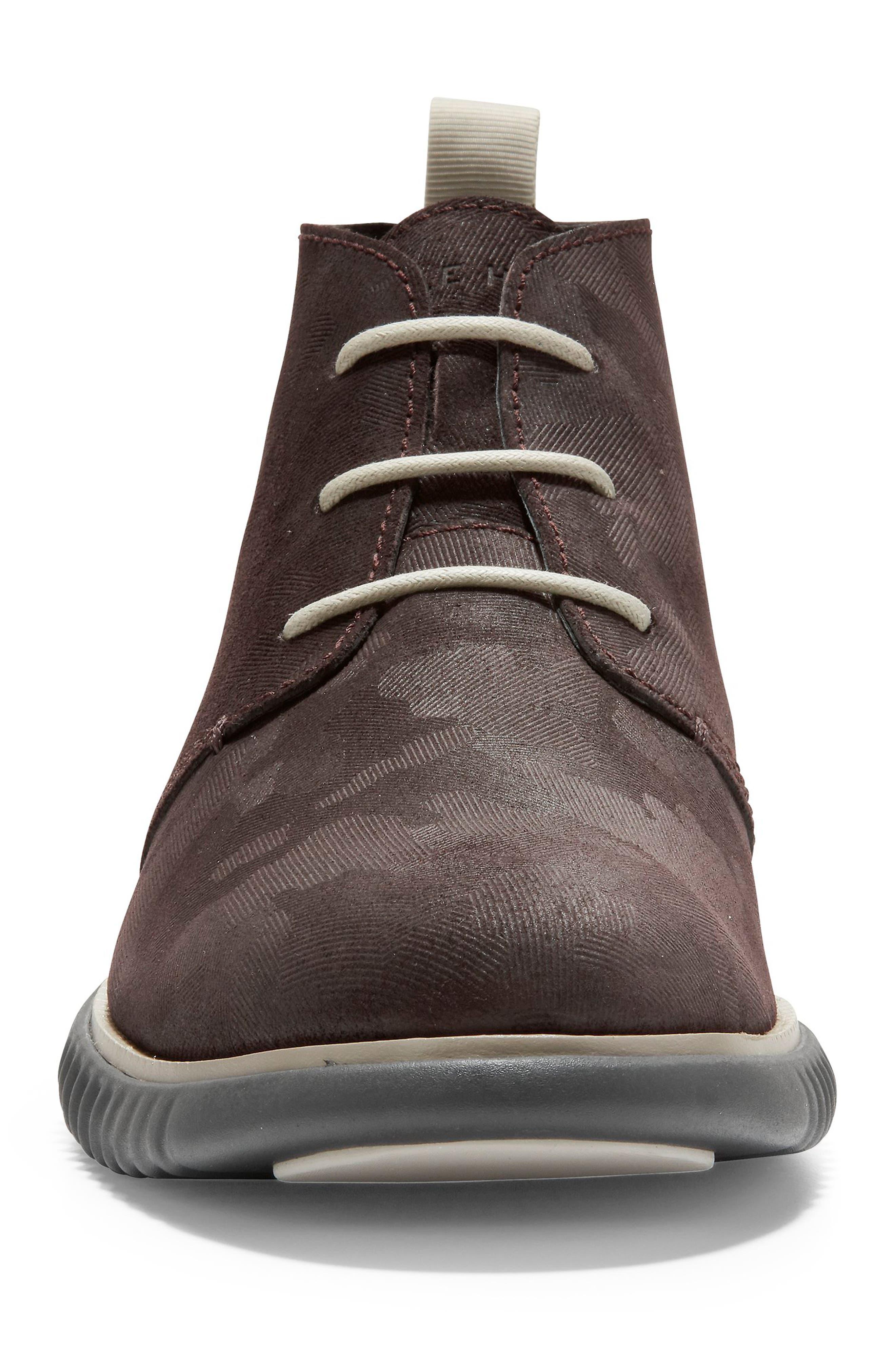 2.Zerogrand Chukka Boot,                             Alternate thumbnail 4, color,                             BLACK/ WALNUT SUEDE