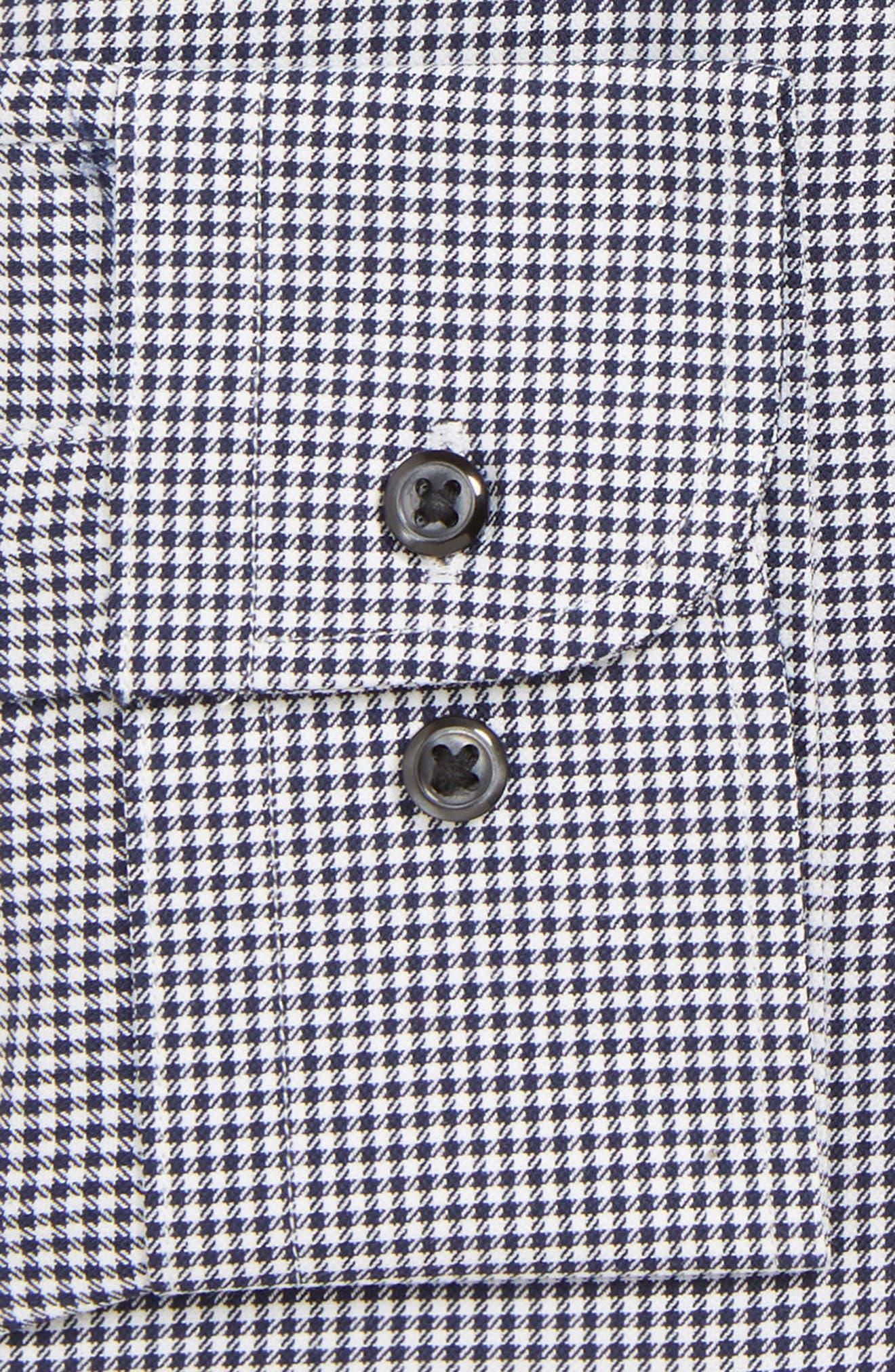 Tech-Smart Classic Fit Stretch Check Dress Shirt,                             Alternate thumbnail 2, color,                             NAVY PEACOAT