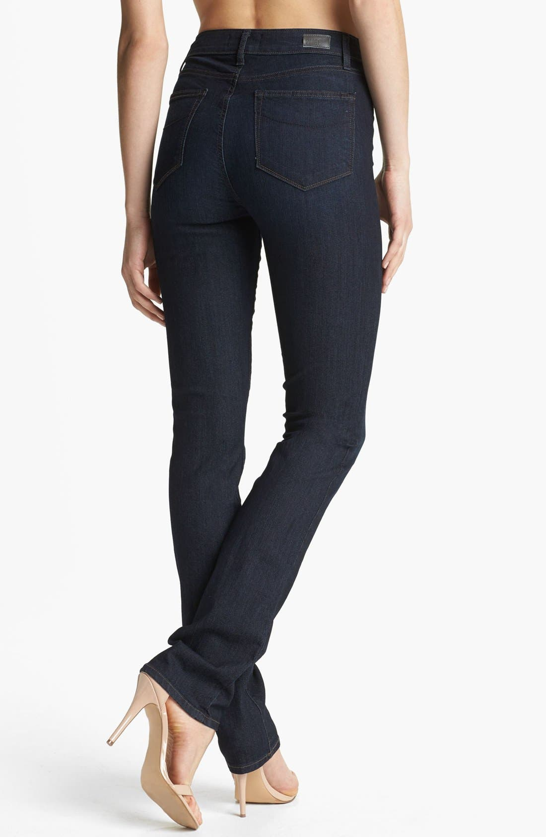 Denim 'Hoxton' High Rise Straight Leg Jeans,                             Alternate thumbnail 3, color,                             400