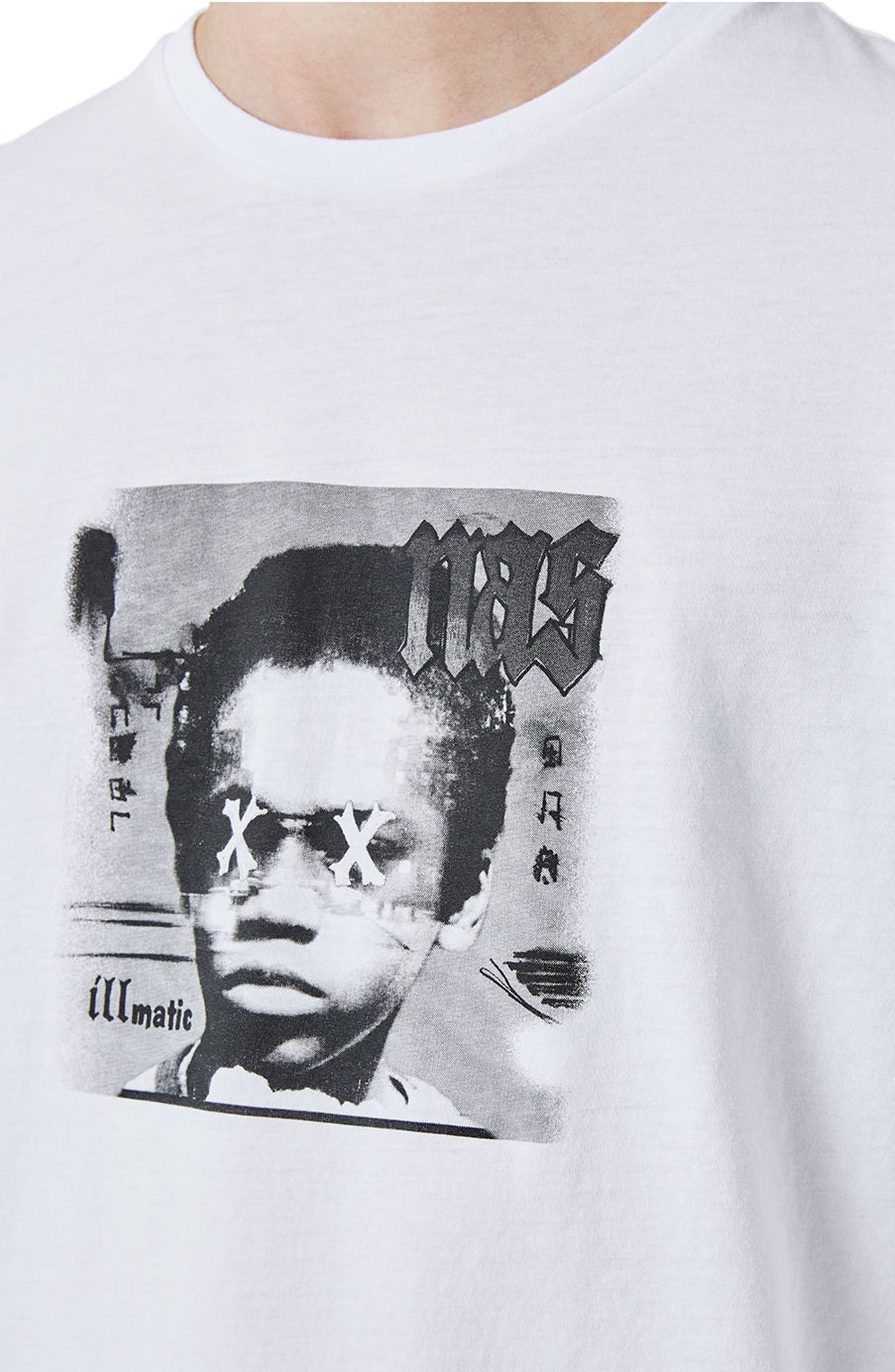 Nas Illmatic Long Sleeve Graphic T-Shirt,                             Alternate thumbnail 3, color,                             100