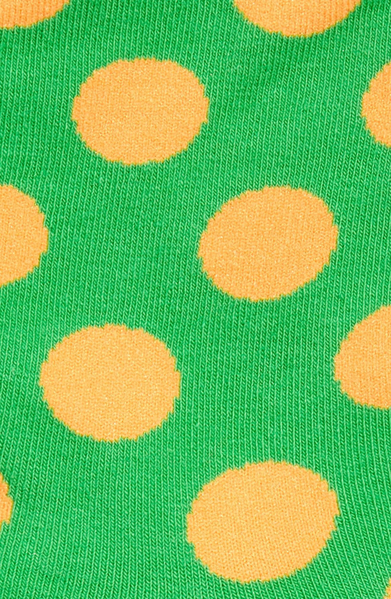 Dot Crew Socks,                             Alternate thumbnail 2, color,                             GREEN/ ORANGE