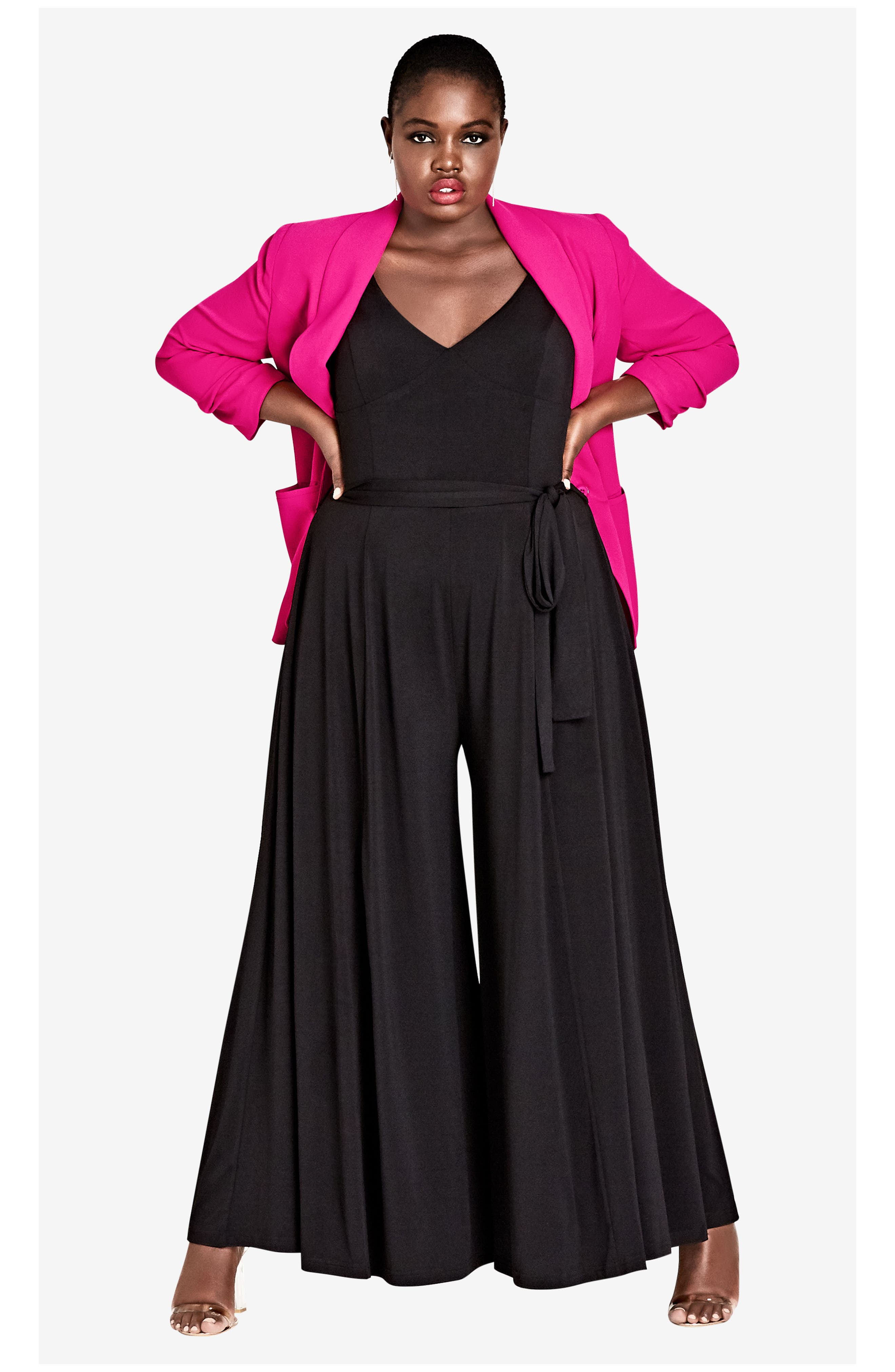 Miss Slinky Jumpsuit,                             Alternate thumbnail 4, color,                             BLACK