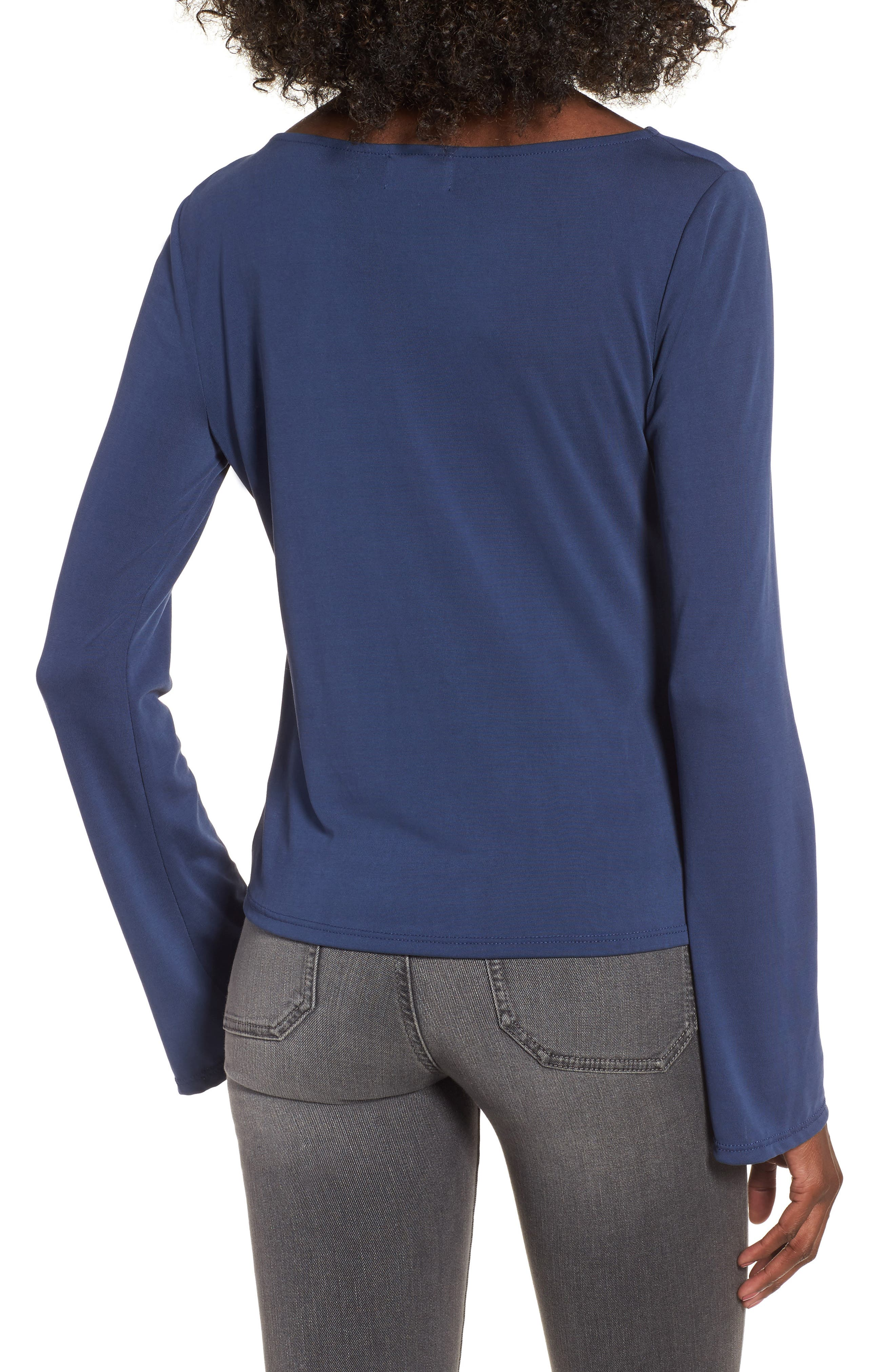 Ruched Front Tee,                             Alternate thumbnail 2, color,                             410