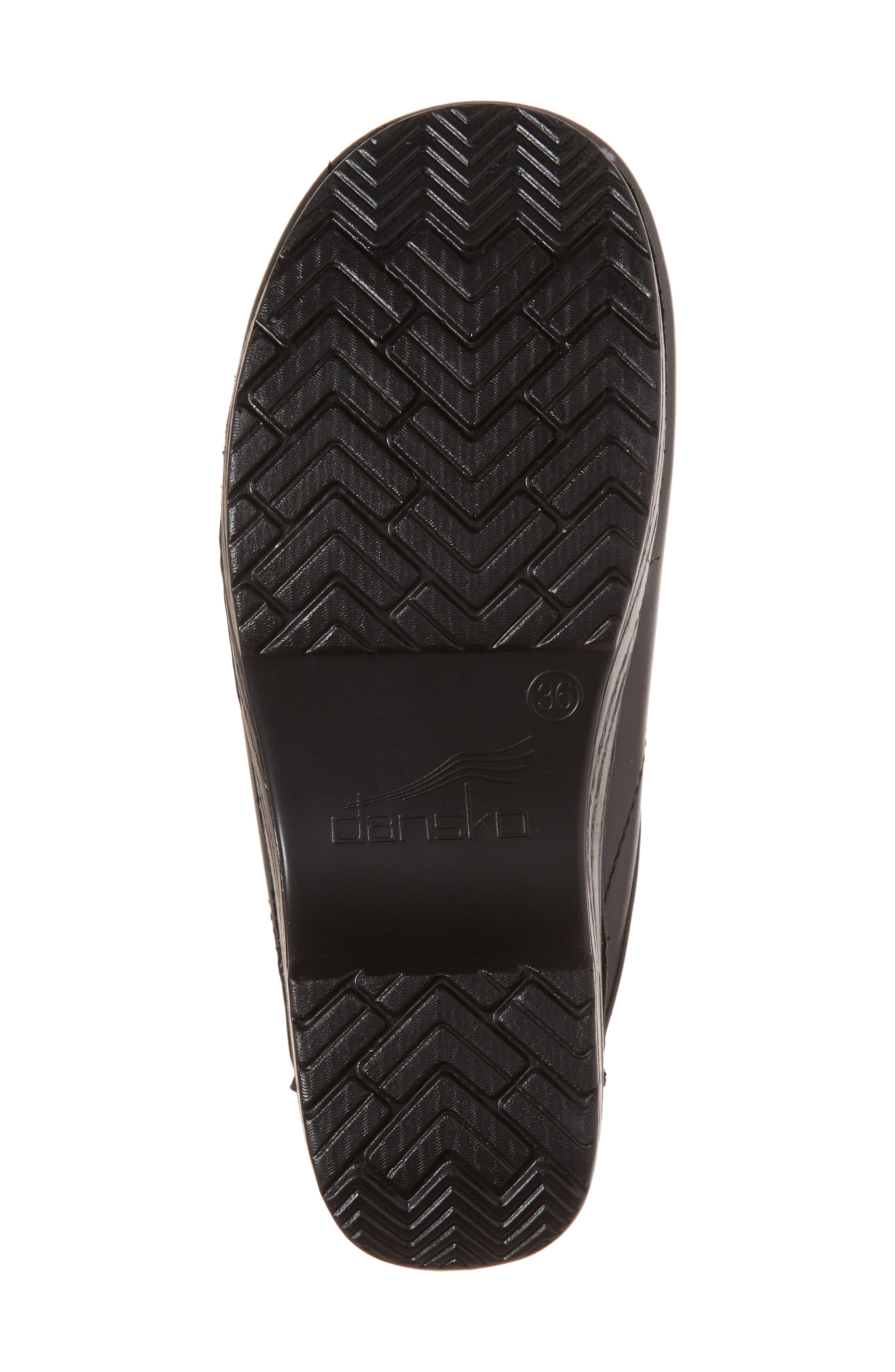 'Sonja' Patent Leather Clog,                             Alternate thumbnail 6, color,                             BLACK BOX LEATHER