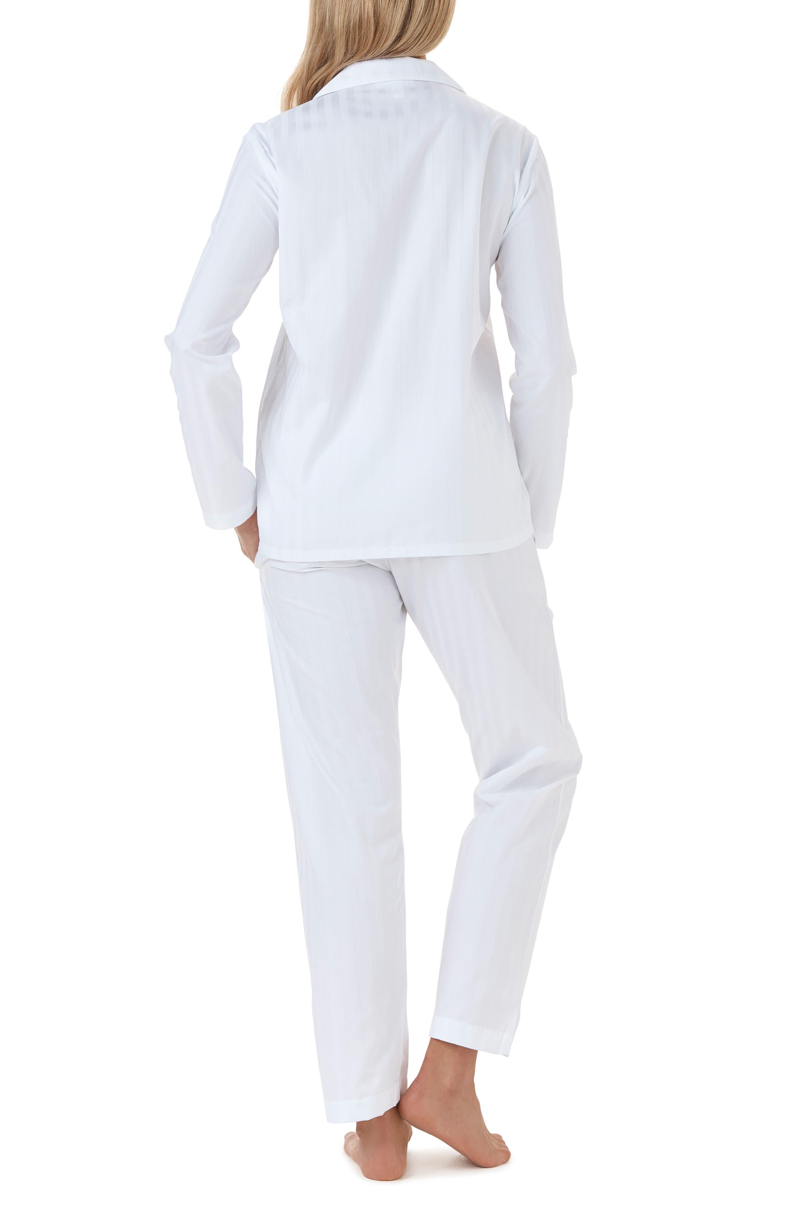 THE WHITE COMPANY,                             Cotton Pajamas,                             Alternate thumbnail 2, color,                             WHITE