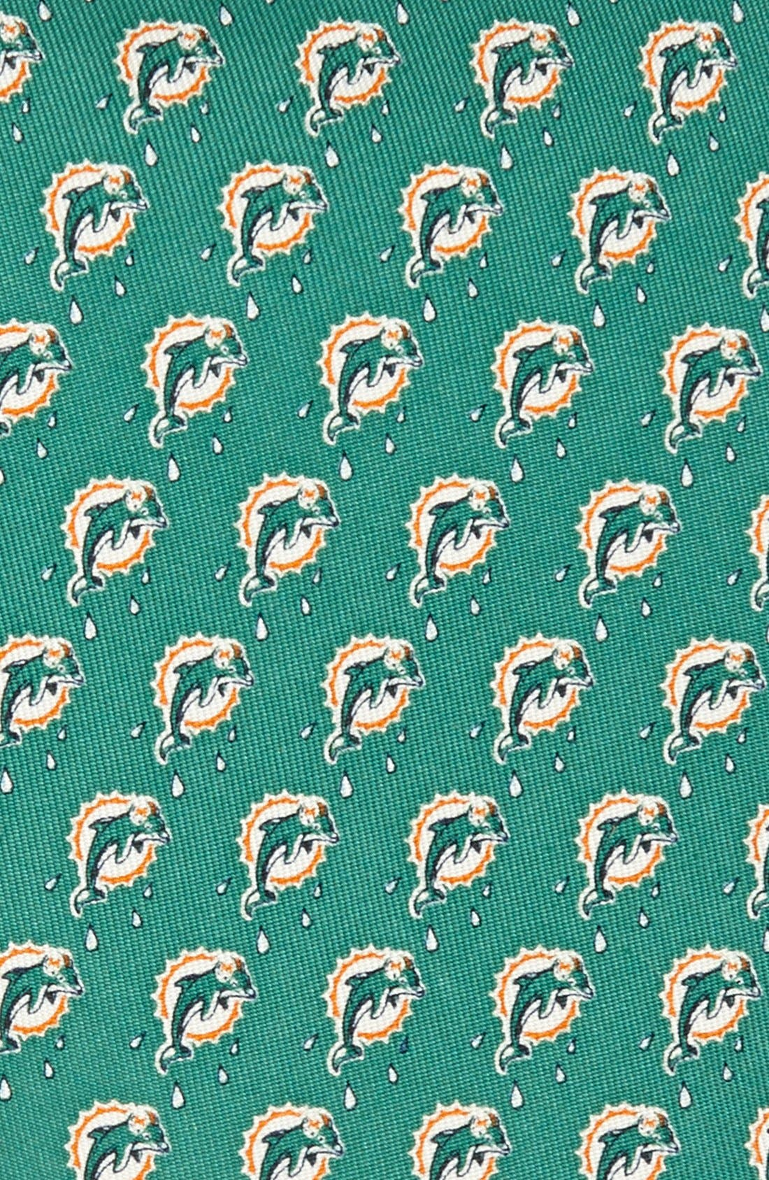 Miami Dolphins Print Tie,                             Alternate thumbnail 2, color,                             315