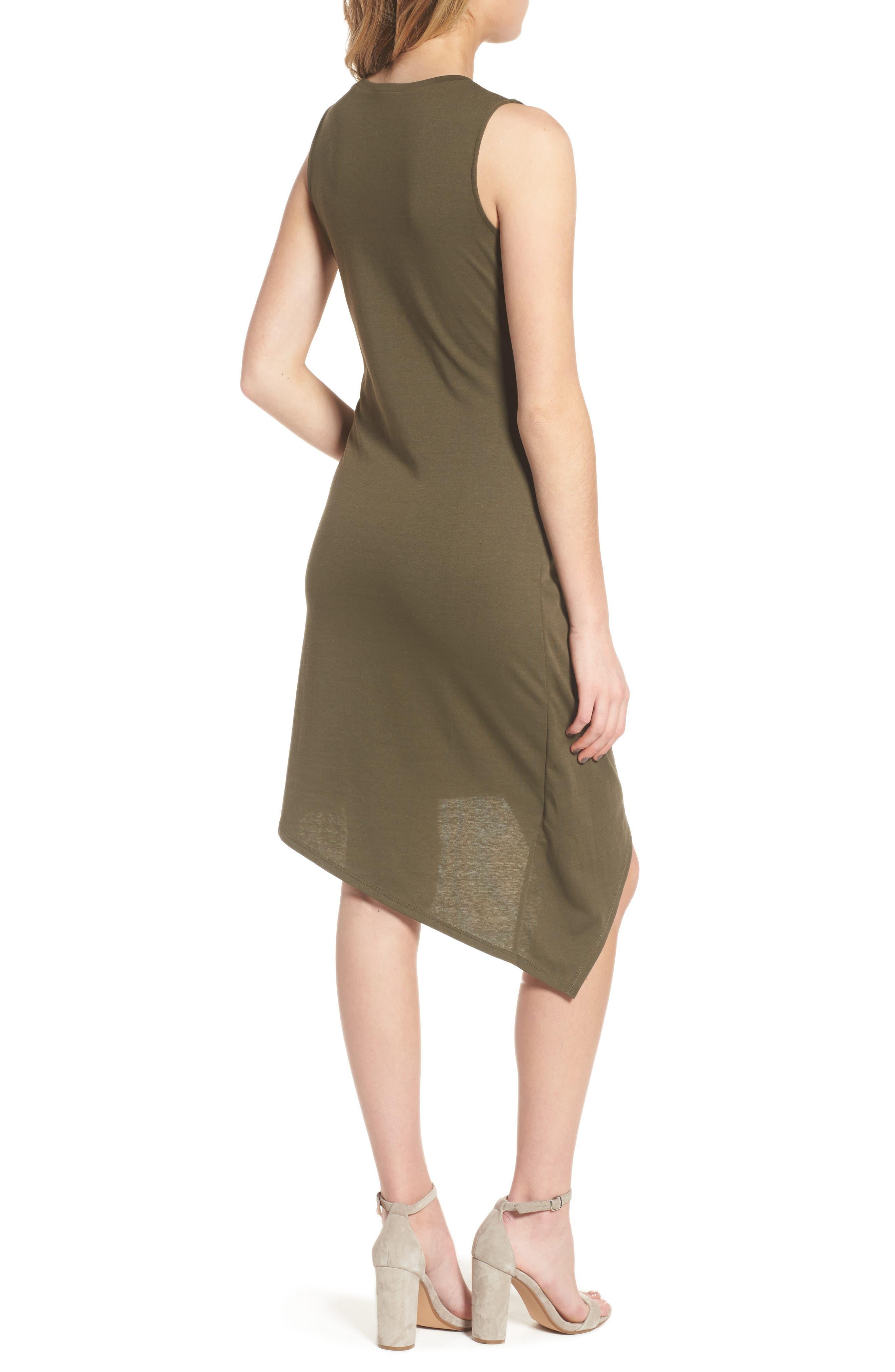 Twist Front Dress,                             Alternate thumbnail 2, color,                             OLIVE SARMA