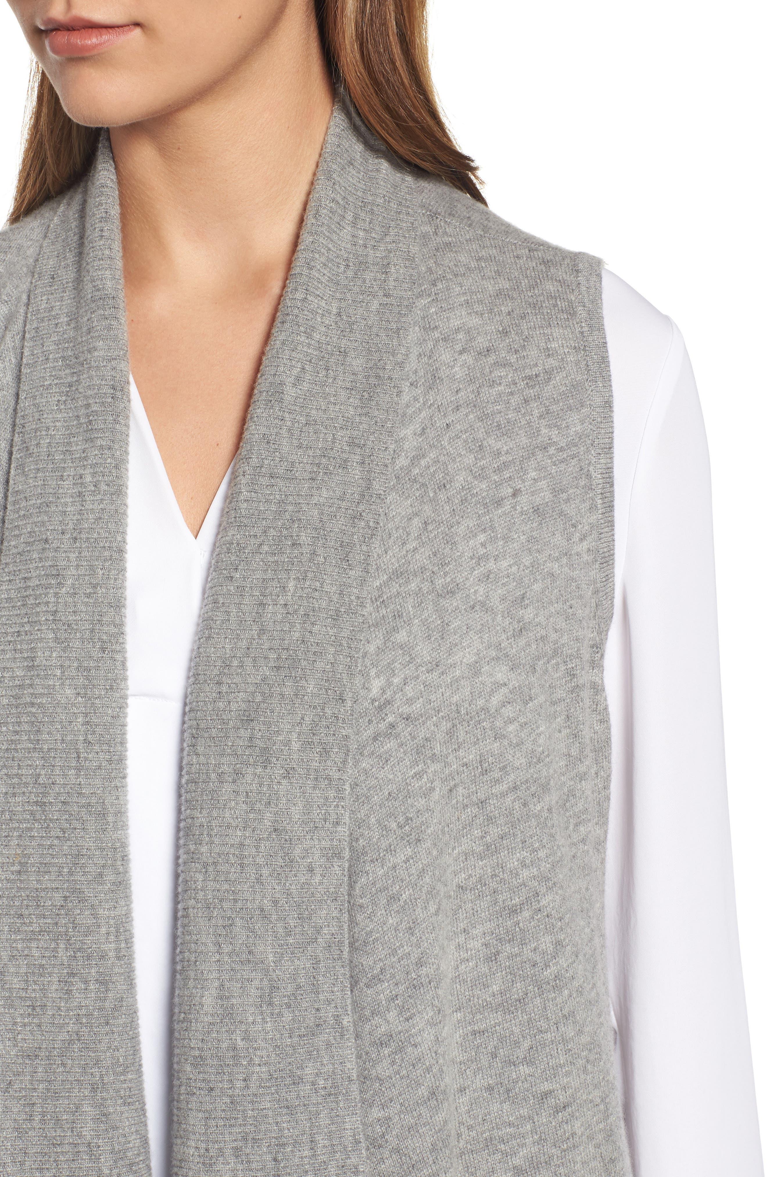 Wool & Cashmere Drape Front Sweater Vest,                             Alternate thumbnail 36, color,