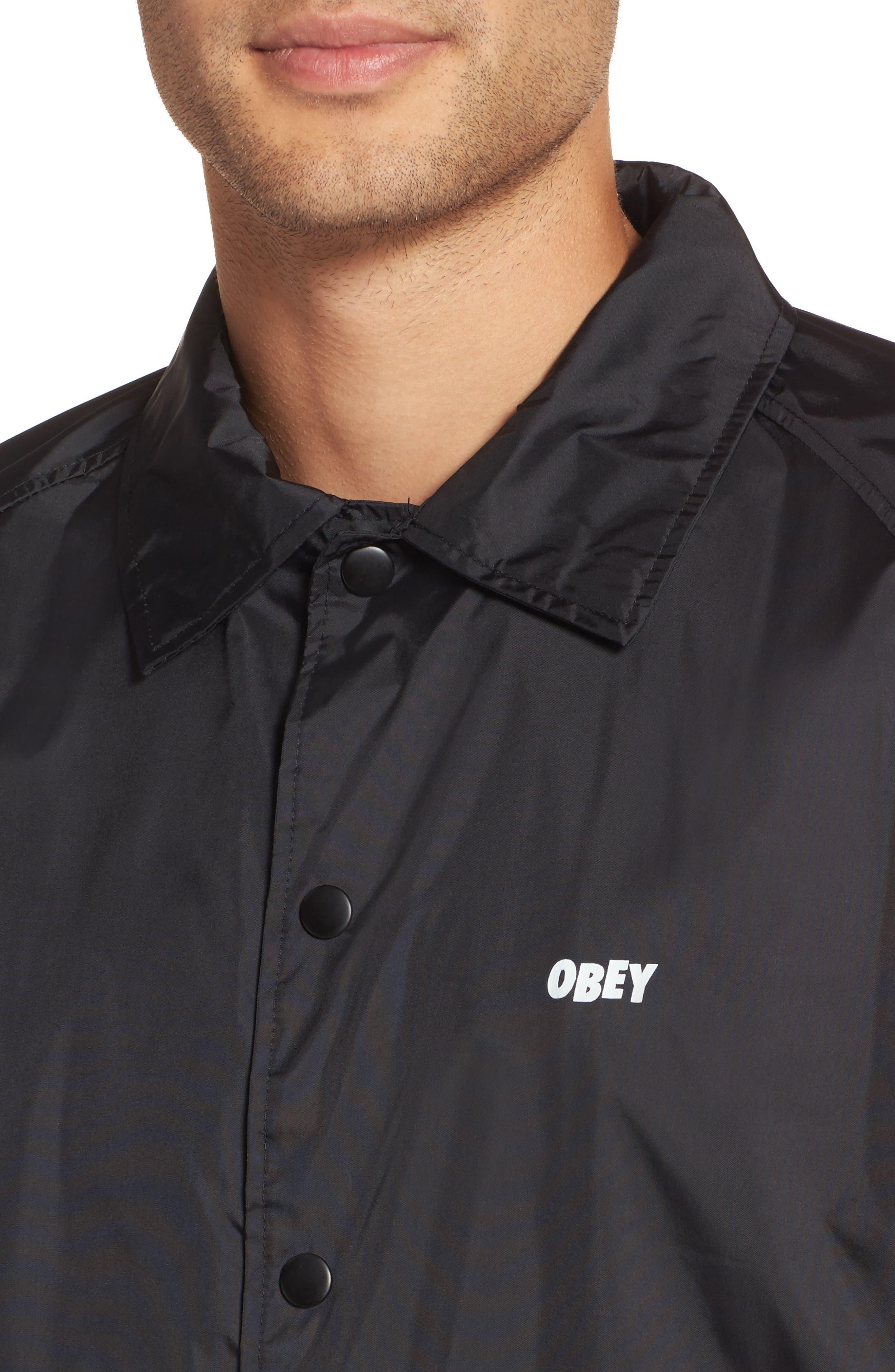 Lo-Fi Graphic Coach's Jacket,                             Alternate thumbnail 4, color,                             001