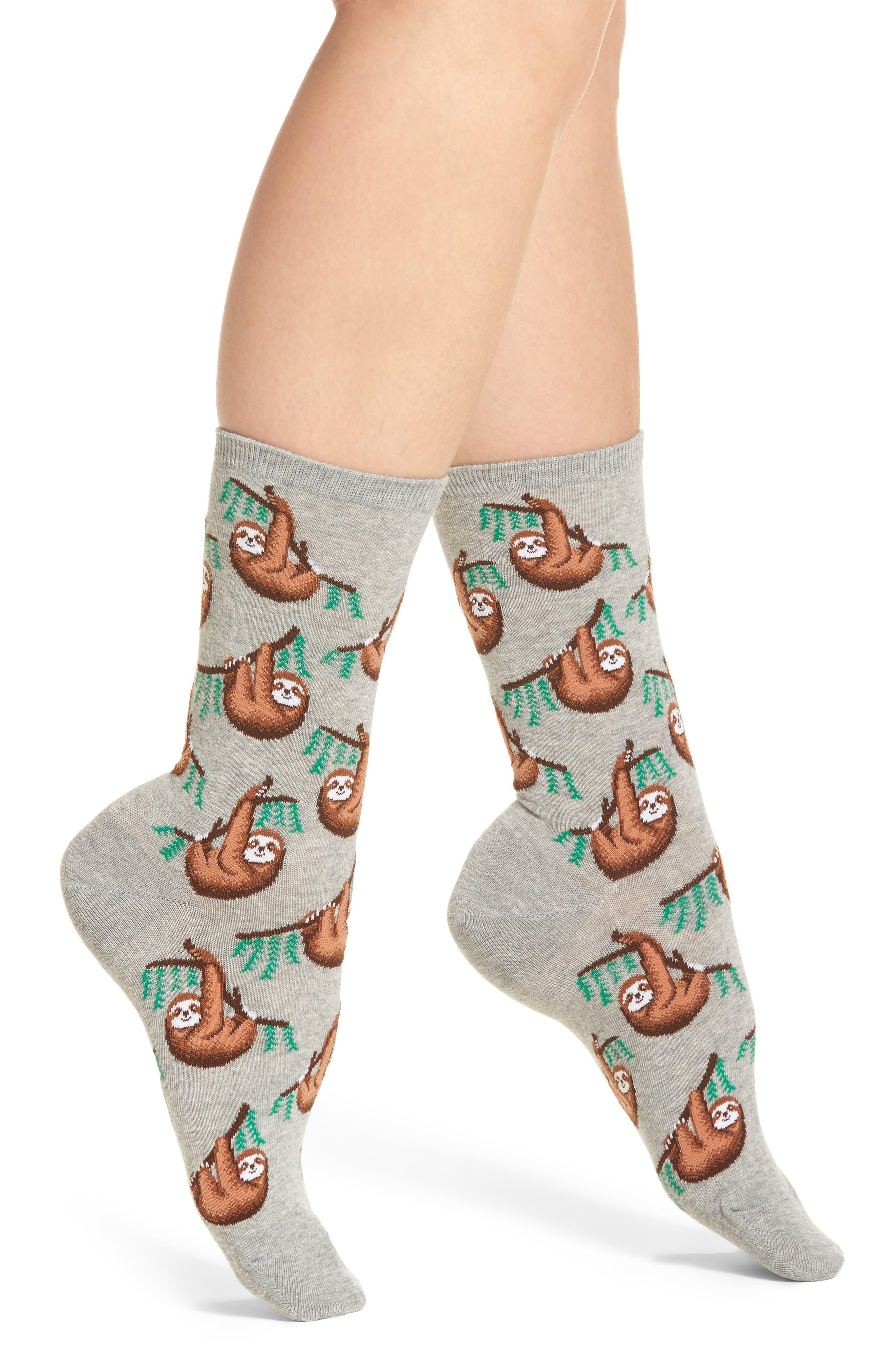 Sloth Crew Socks,                         Main,                         color, 051