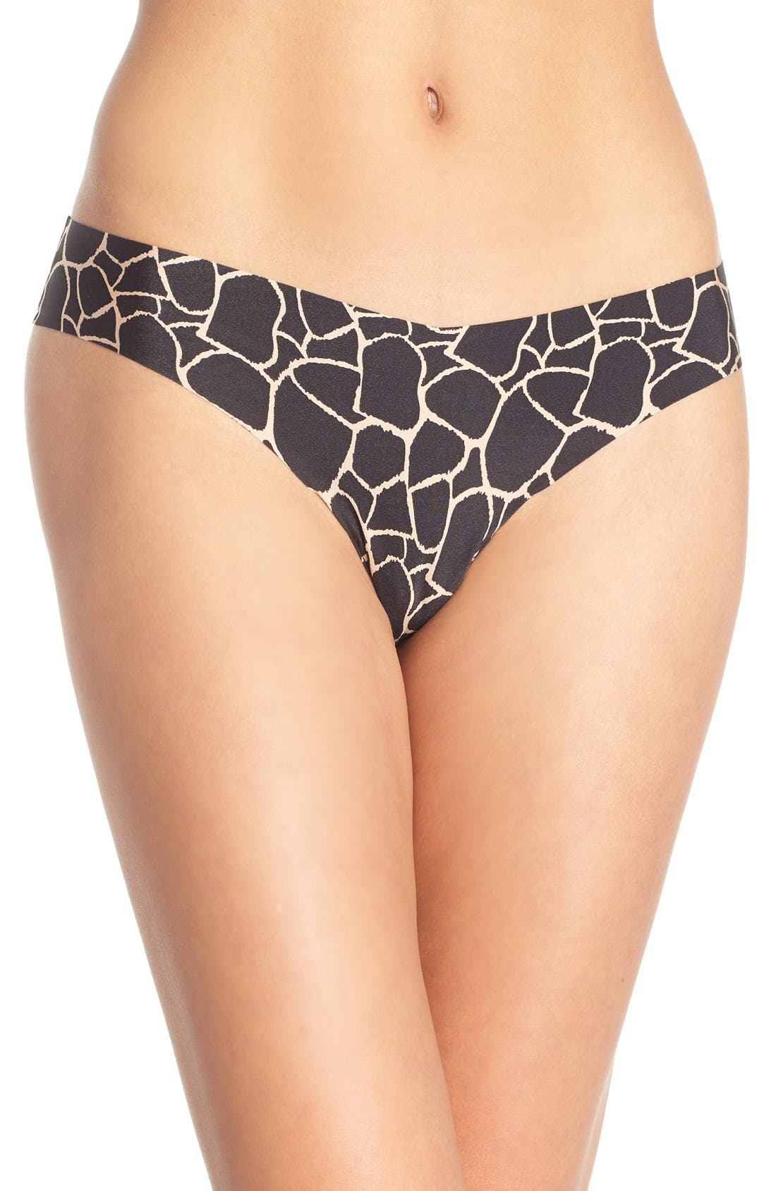 Print Microfiber Thong,                             Main thumbnail 40, color,
