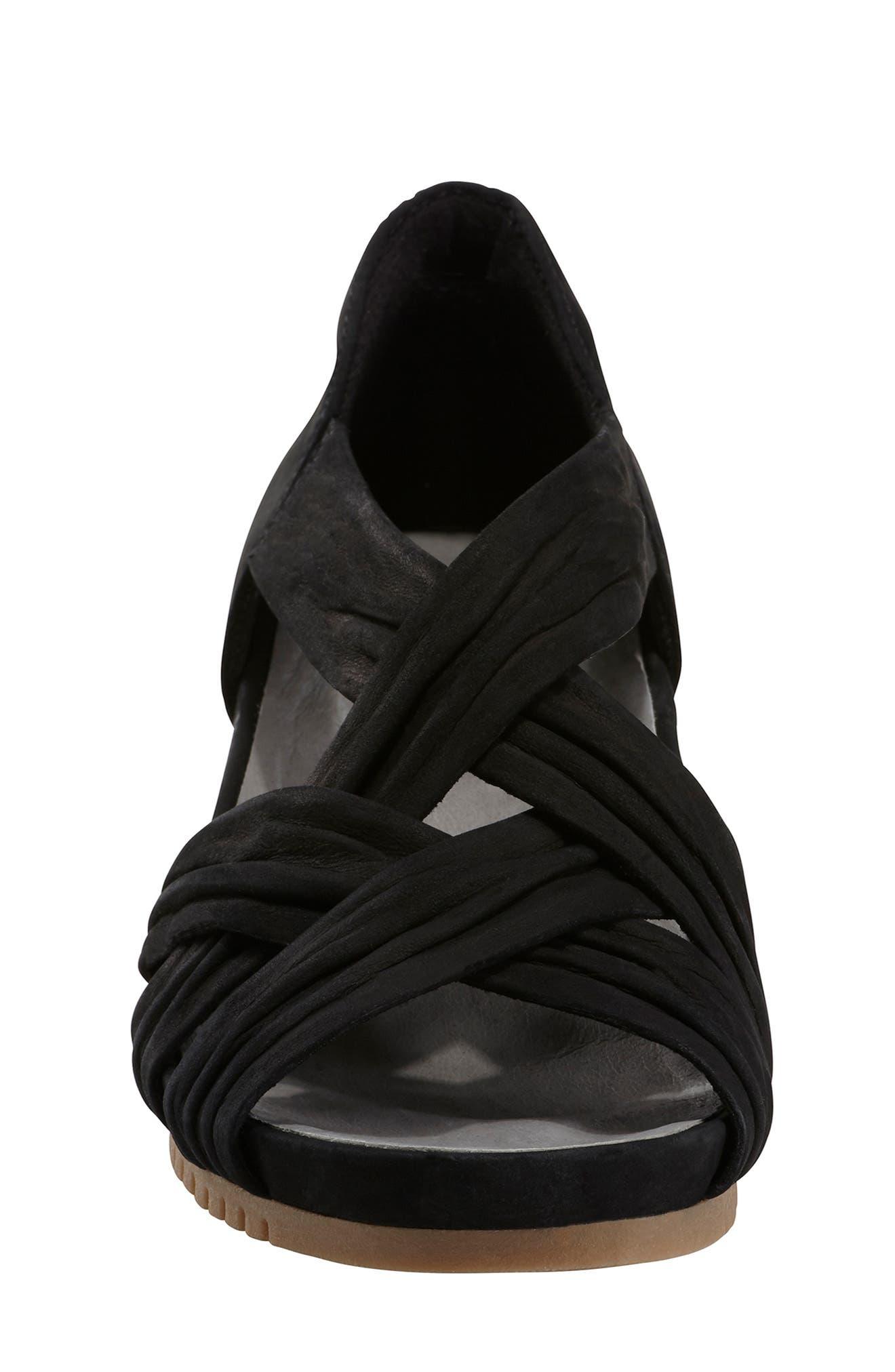 Gemini Sandal,                             Alternate thumbnail 4, color,                             BLACK LEATHER