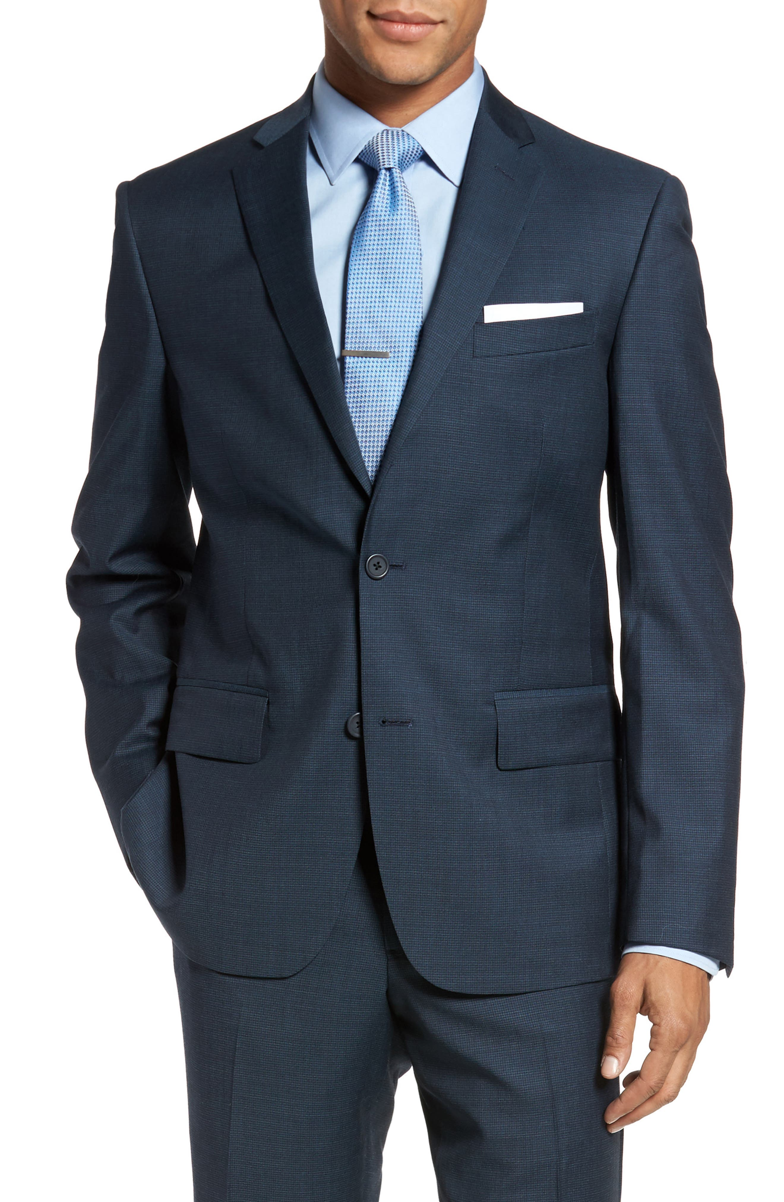Classic Fit Check Wool Suit,                             Alternate thumbnail 20, color,