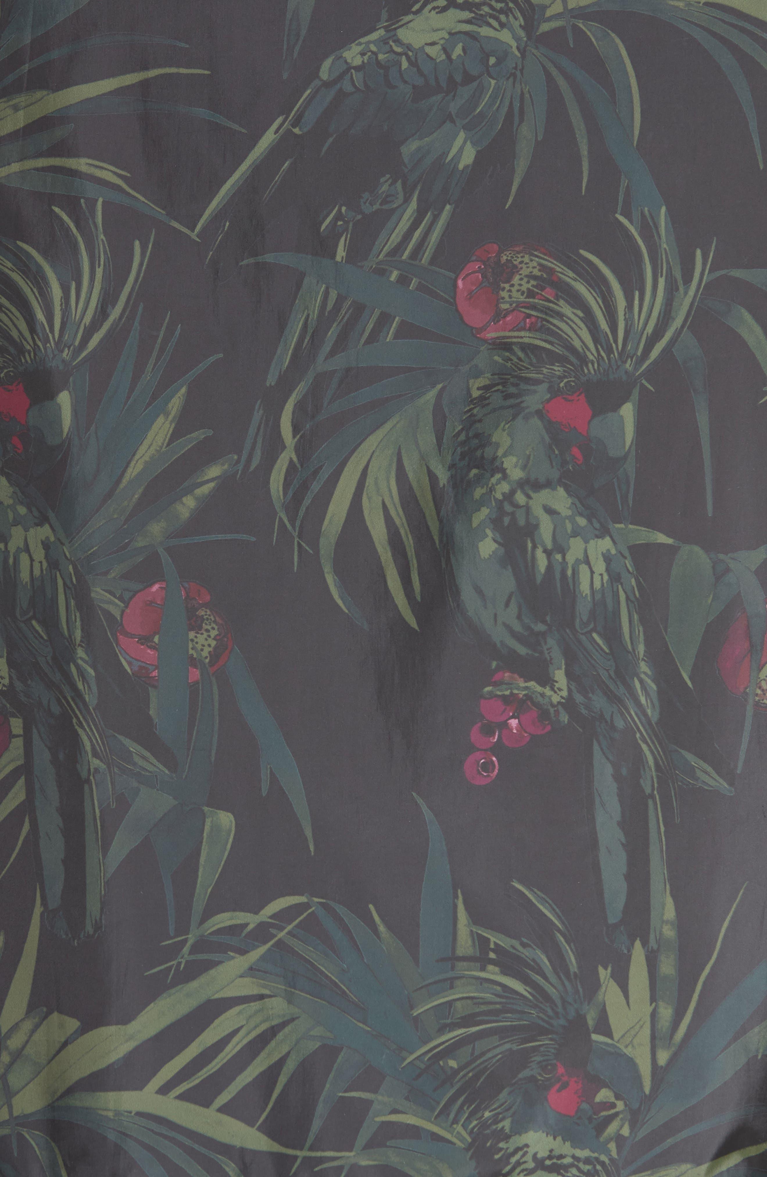 Dark Tropical Woven Work Jacket,                             Alternate thumbnail 6, color,                             005