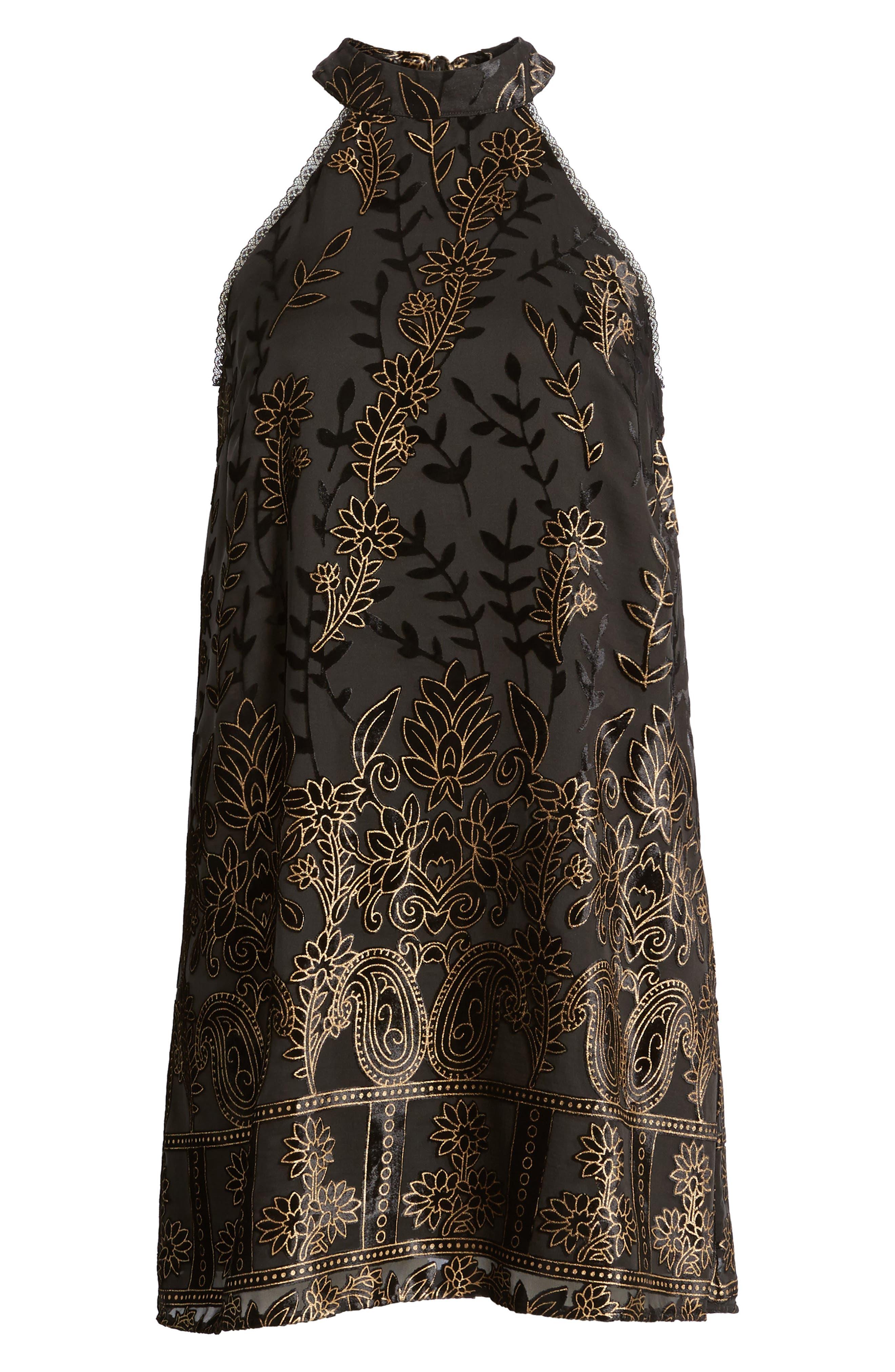 Merci Halter Dress,                             Alternate thumbnail 6, color,                             001